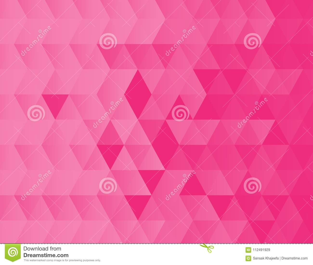abstract pink triangles background texture design stock illustration