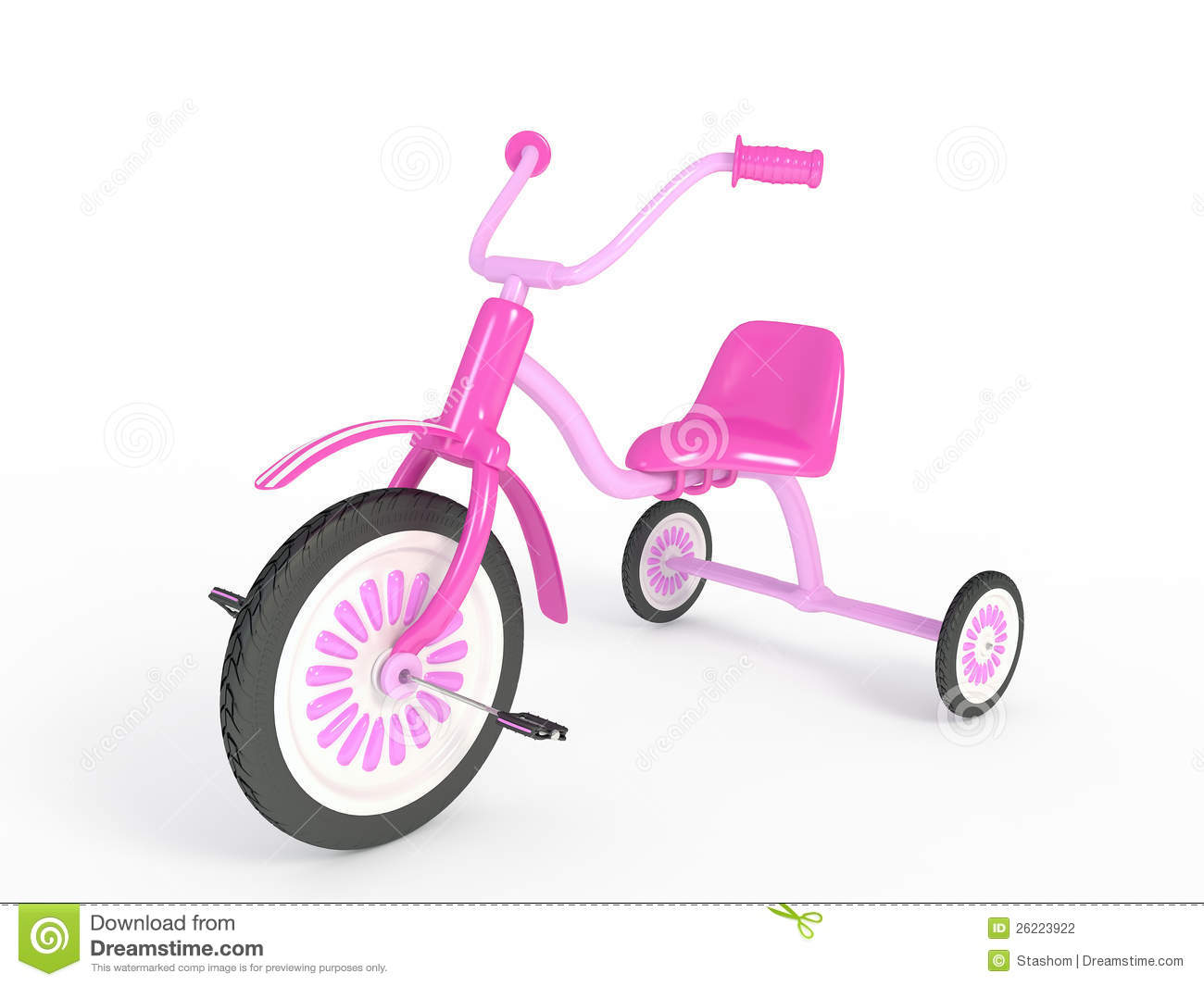Pink Tricycle Stock Photography Image 26223922