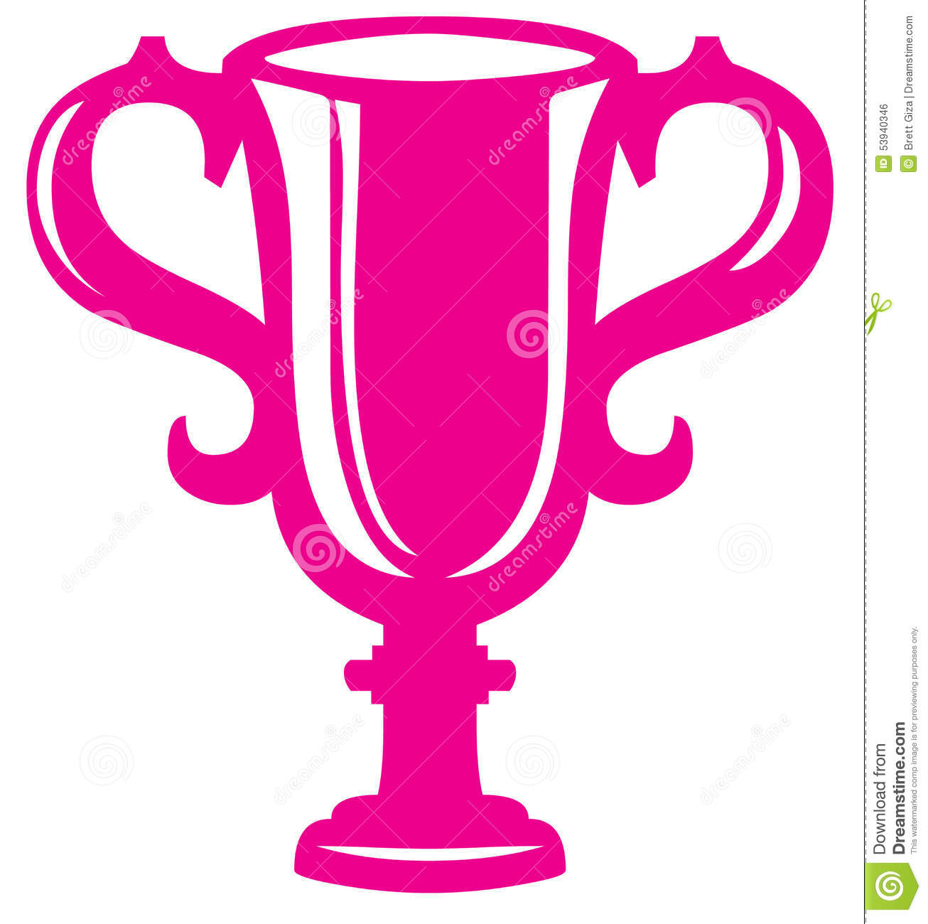 Royalty Free Stock Image: Pink Trophy. Image: 53940346 Golf Ball On Tee Clipart