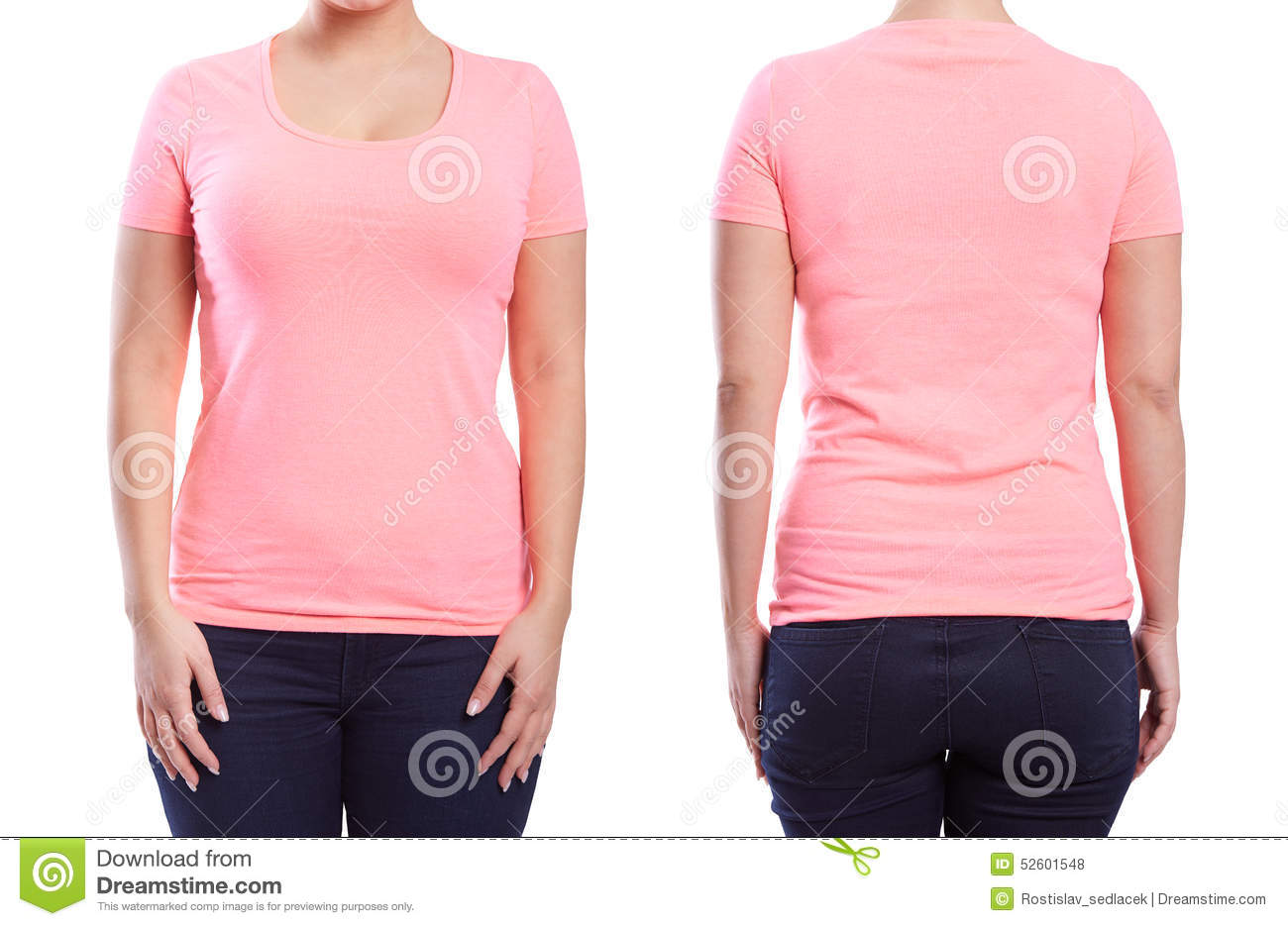 Pink tshirt on a young woman stock photo image 52601548 for Pink t shirt template