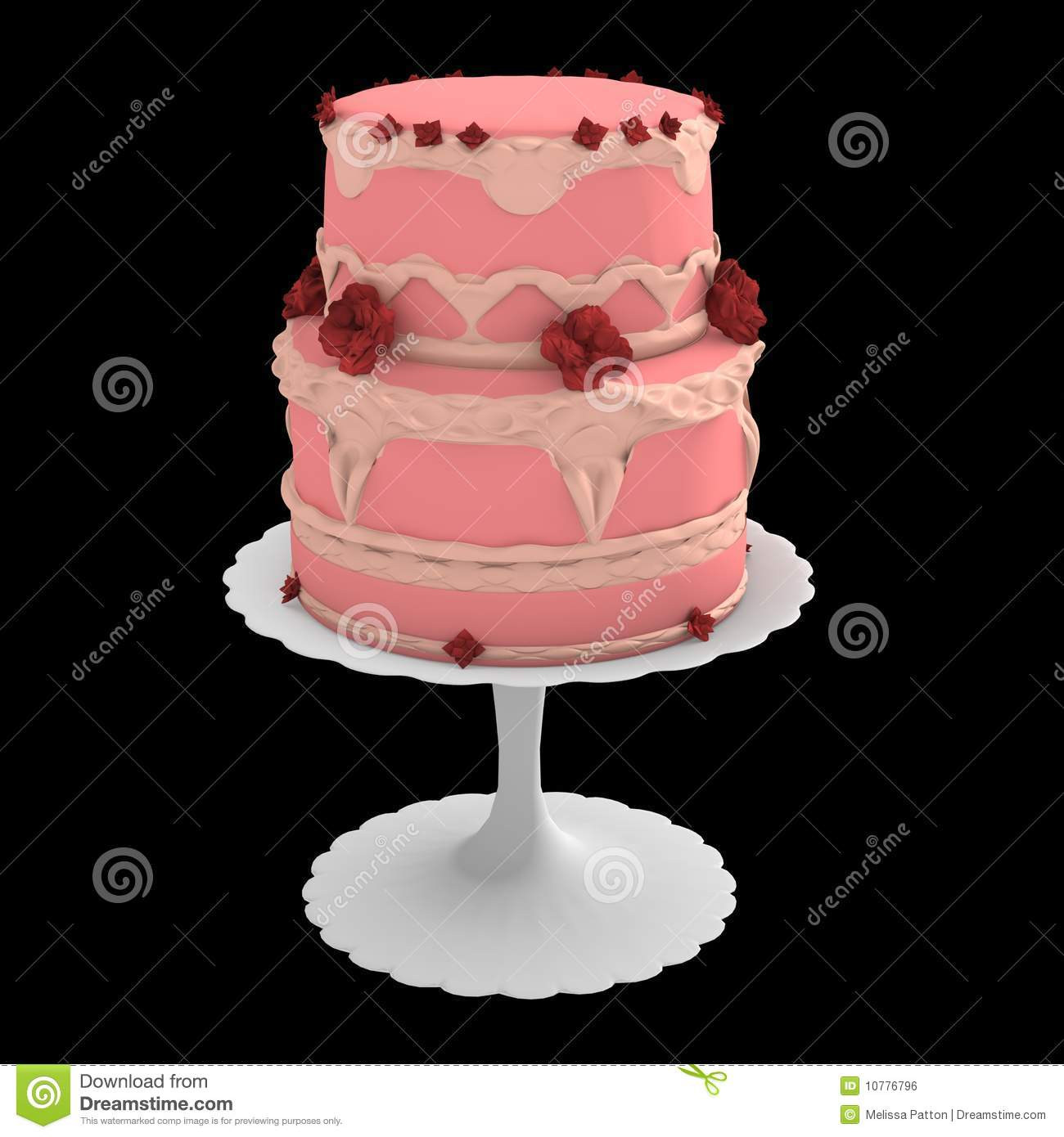 Miraculous Pink Two Layer Cake 3D Computer Generated Stock Illustration Funny Birthday Cards Online Amentibdeldamsfinfo