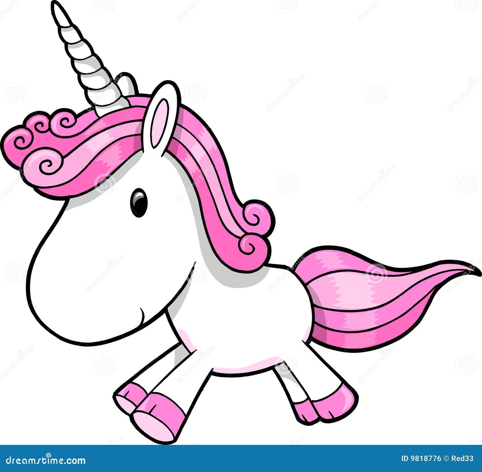 pink unicorn vector stock vector illustration of stallion 9818776 rh dreamstime com free vector silhouette unicorn free unicorn vector art