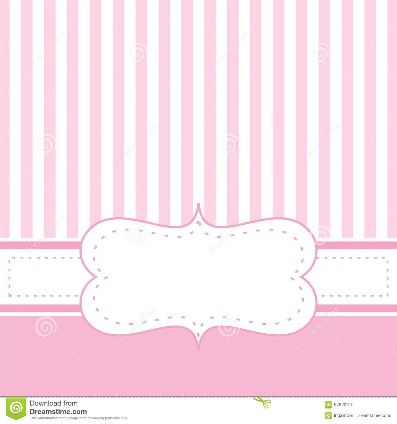 Pink Vector Card Invitation Stock Vector