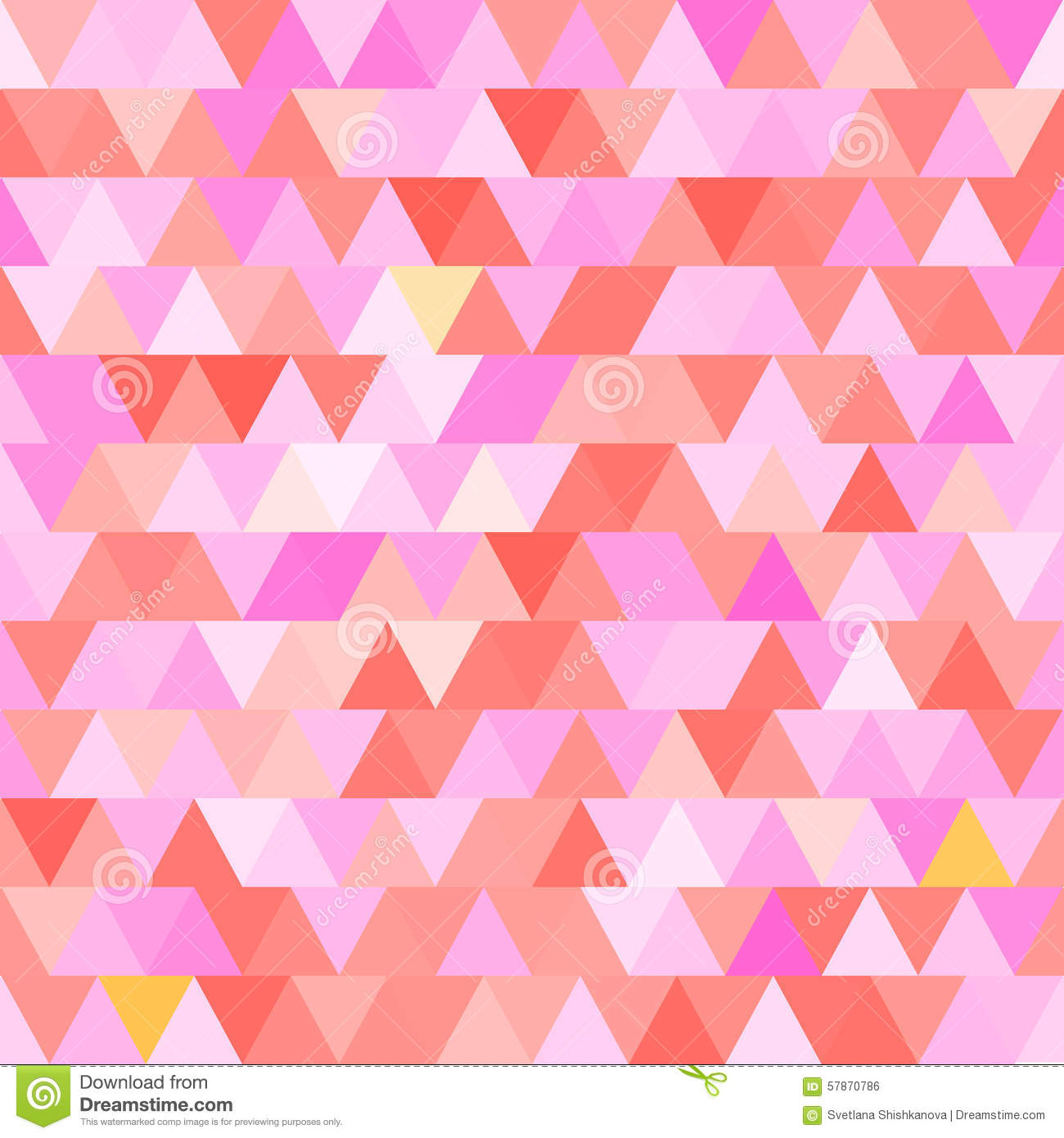 pink vector seamless pattern with triangles abstract background