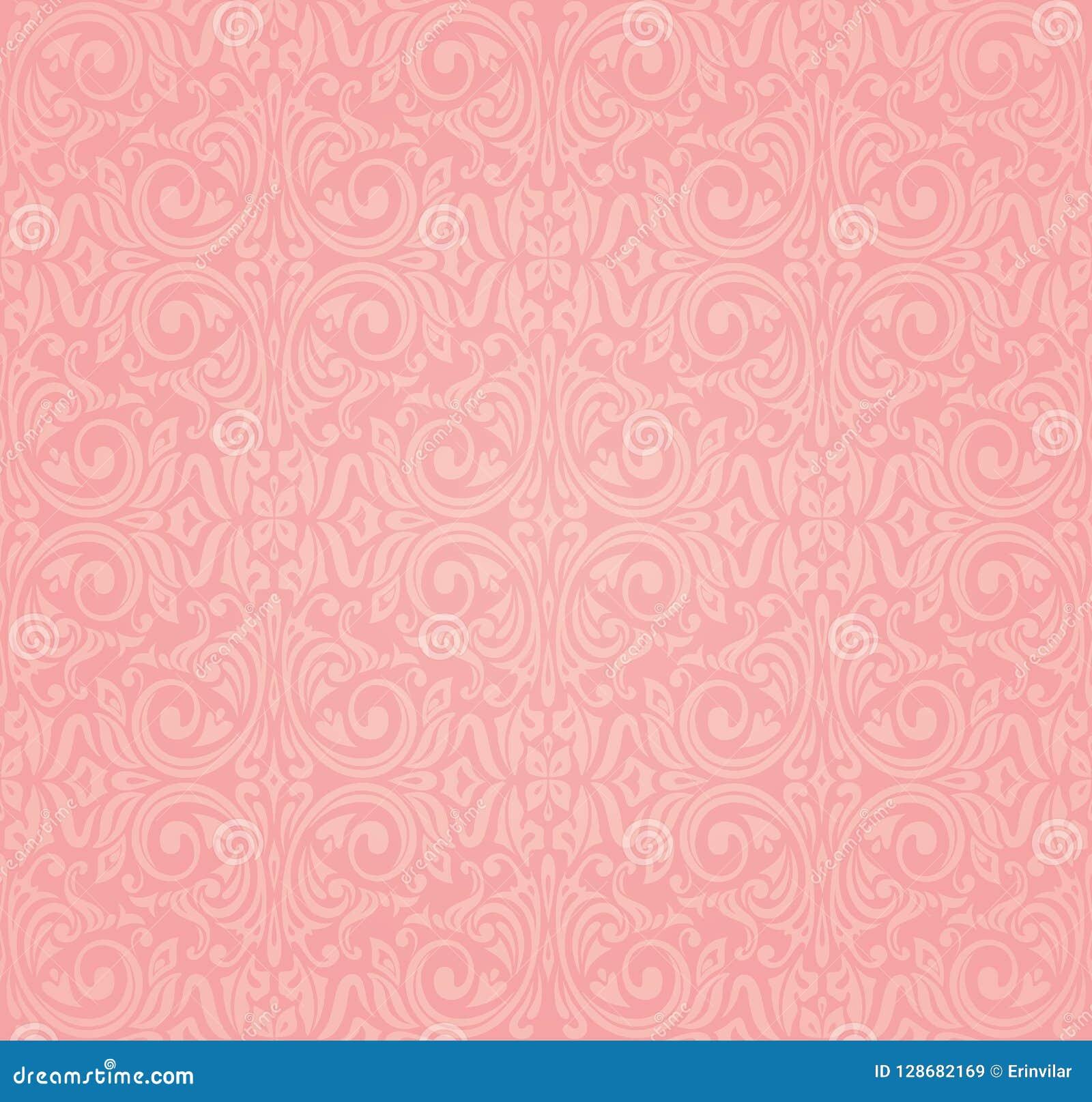 Pink Vector Wallpaper Design Background Stock Vector