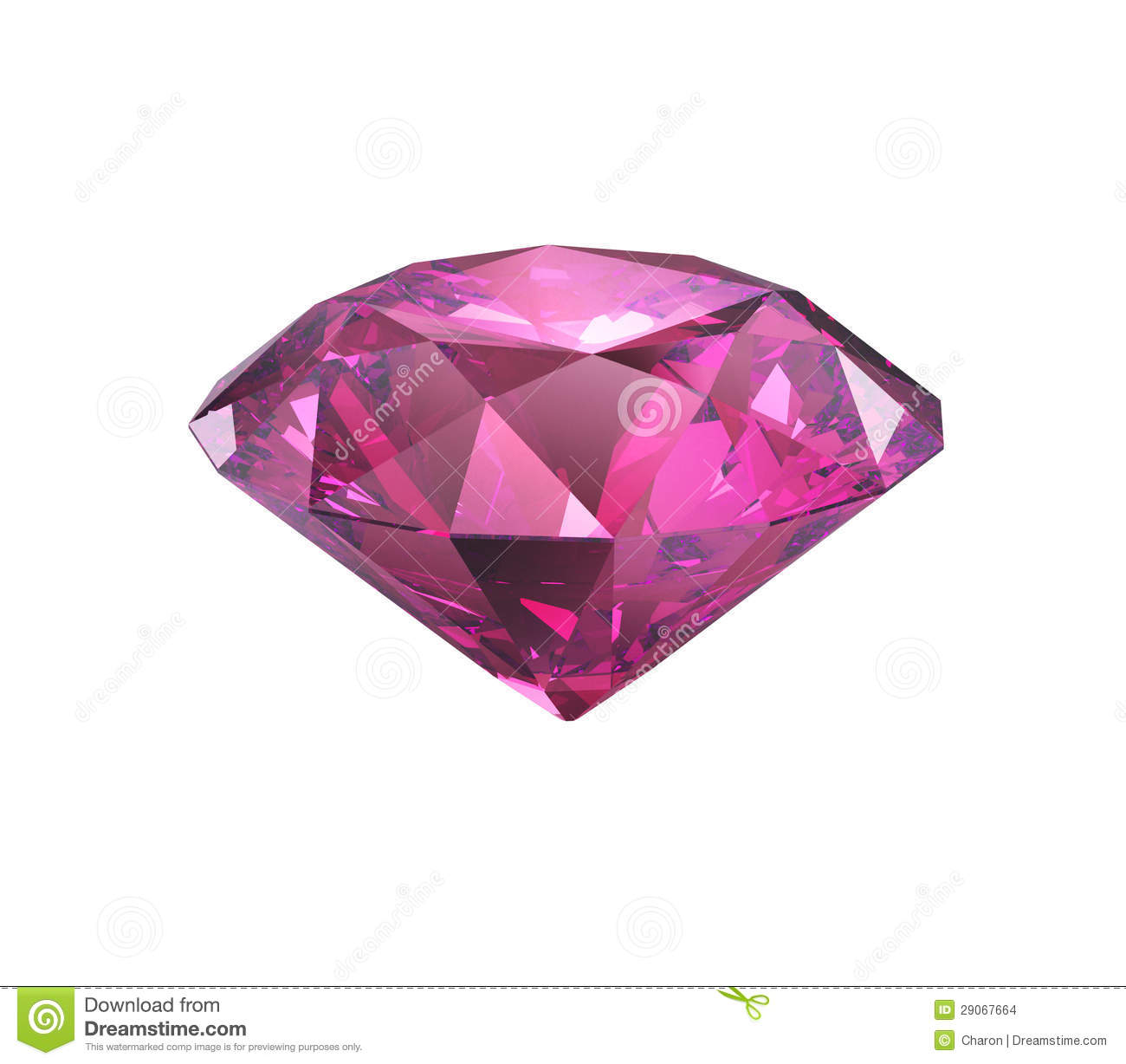 Pink Violet Diamond Cut Isolated Stock Images Image