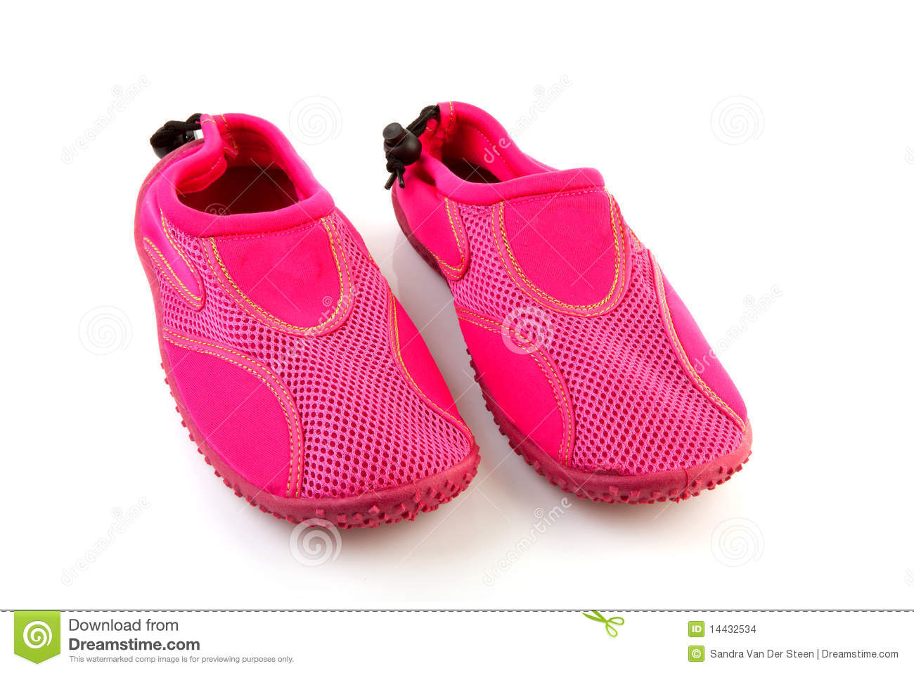 pink water shoes stock images image 14432534