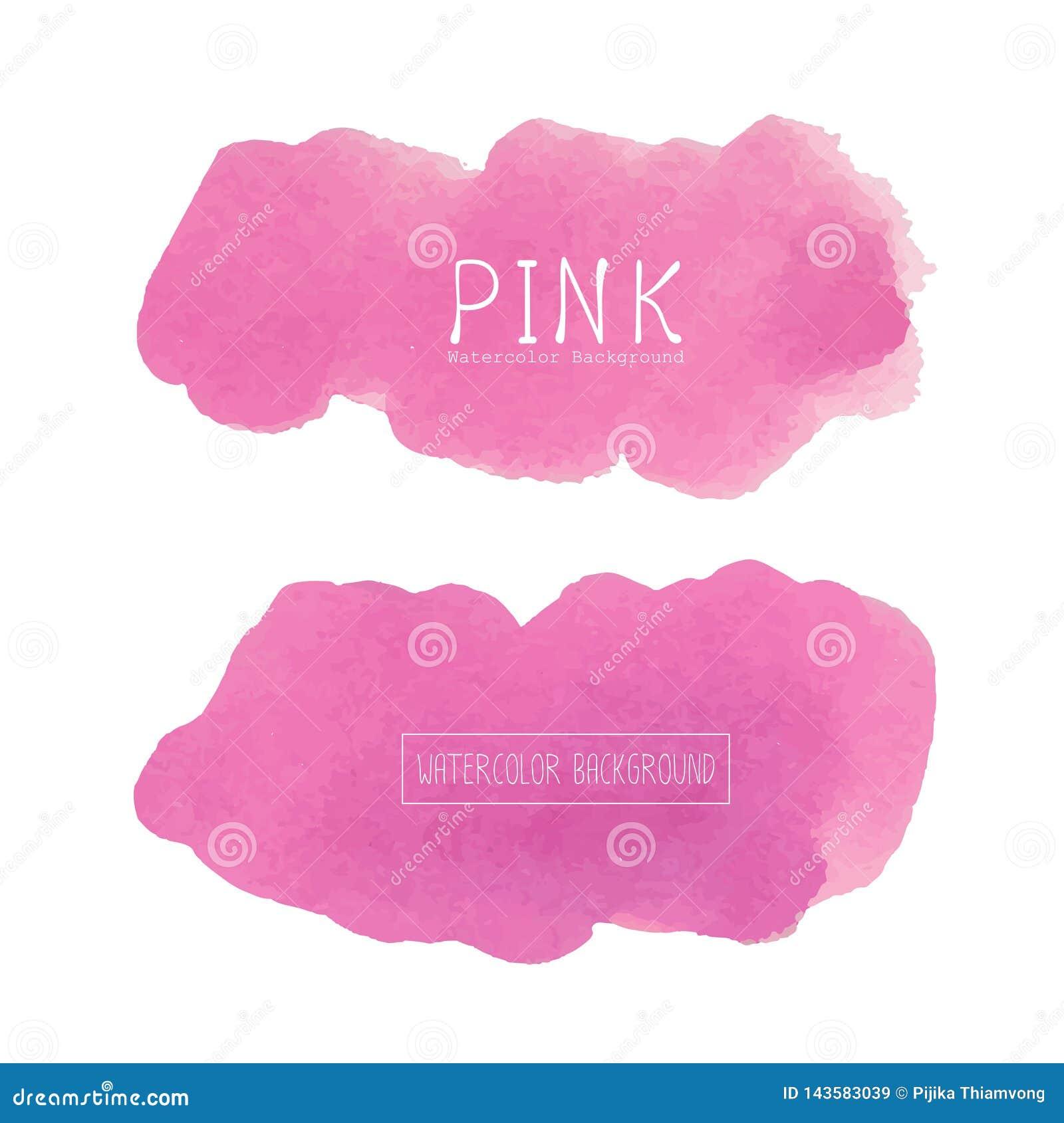 Pink Watercolor Background Pastel Watercolor Logo Stock Vector