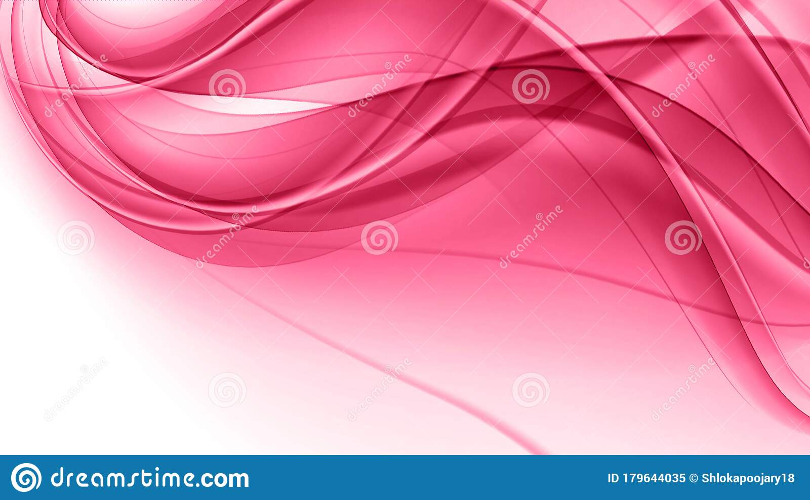 Pink Waves,dreamy Pink Waves,romantic Waves On White ...