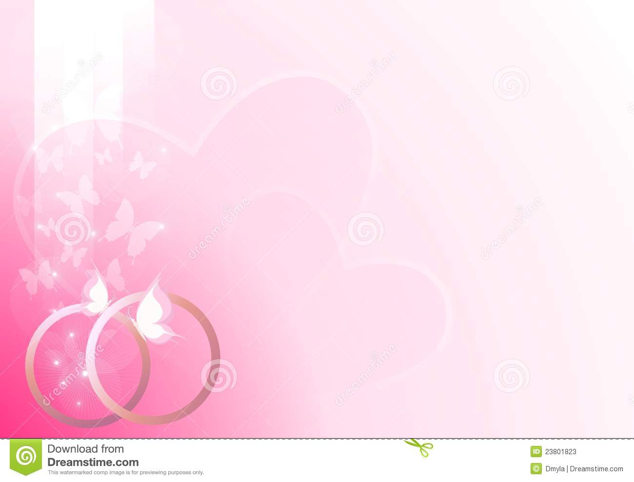 Pink Wedding Background Stock Vector Illustration Of