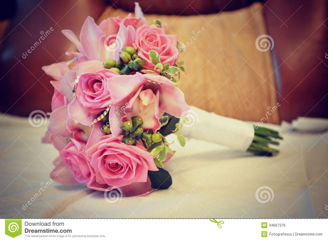 Royalty Free Stock Photo Download Pink Wedding Bouquet