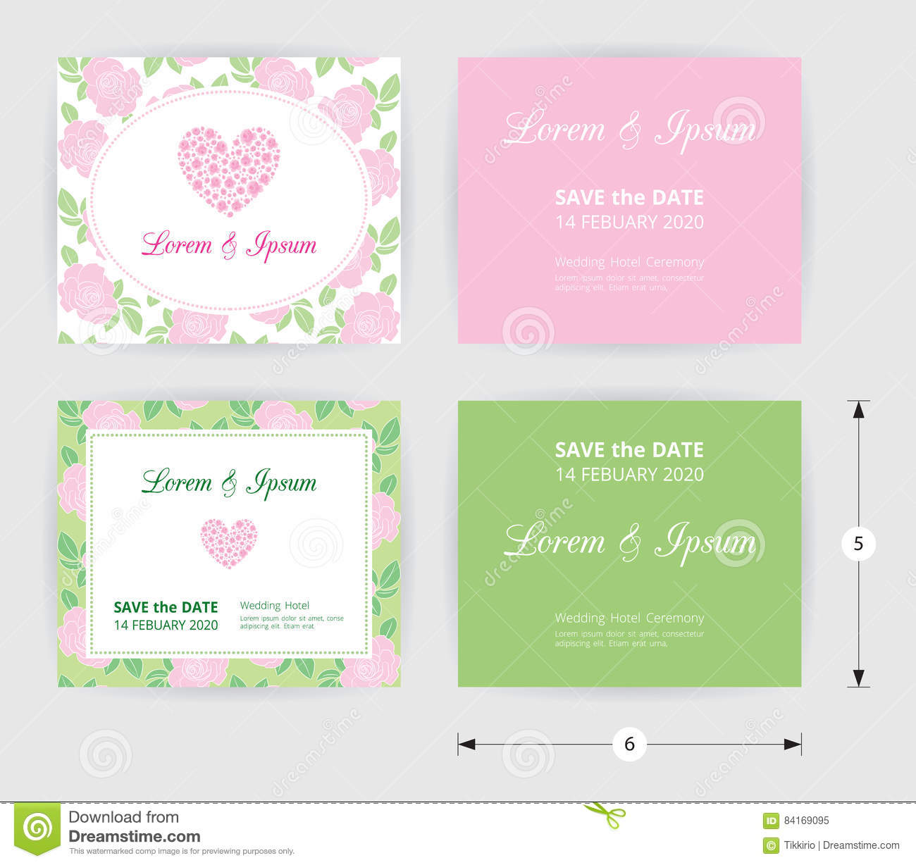 Pink wedding card template heart icon white name label on pastel download pink wedding card template heart icon white name label on pastel rose shape pattern stopboris Images