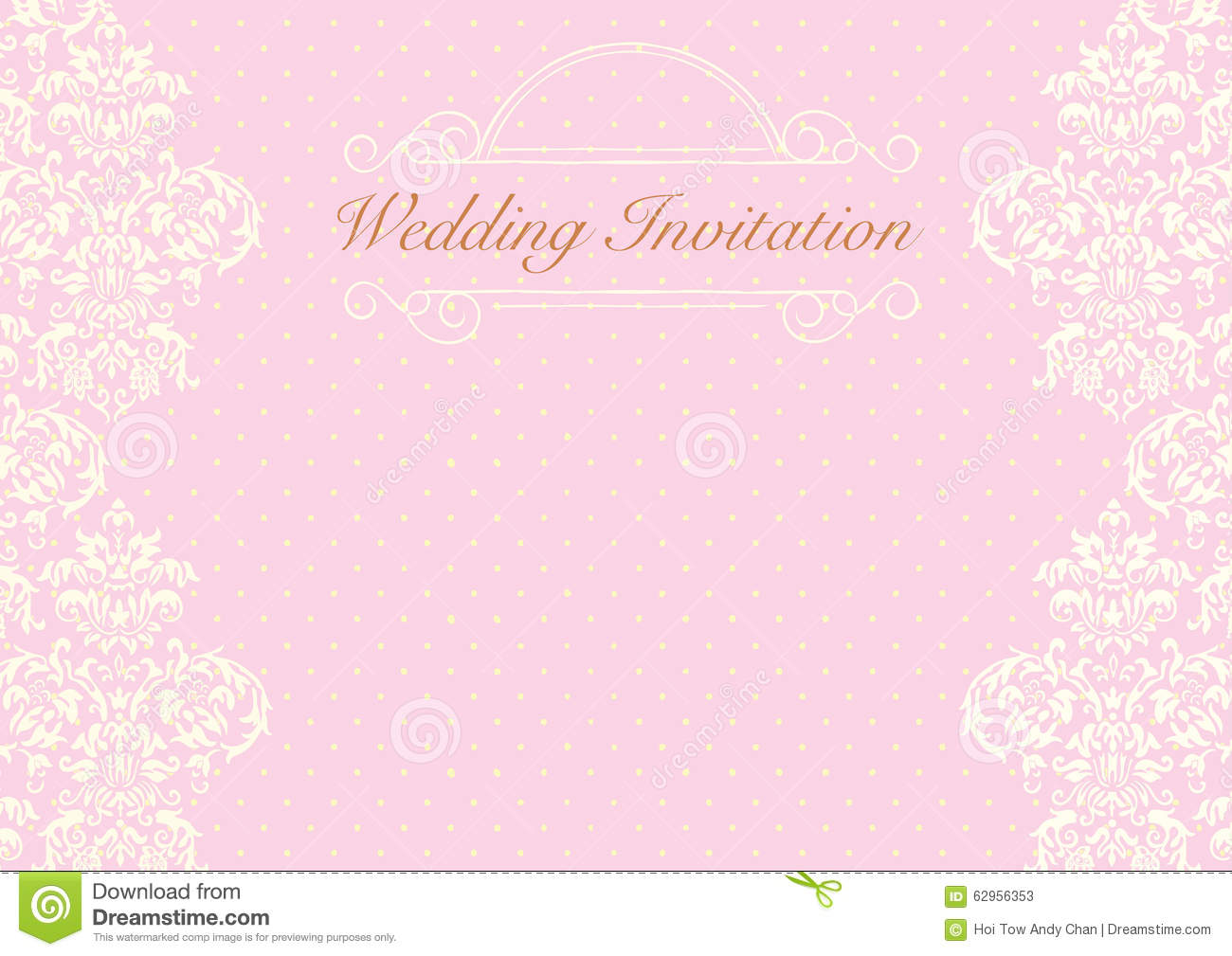 pink wedding invitation background stock illustration illustration