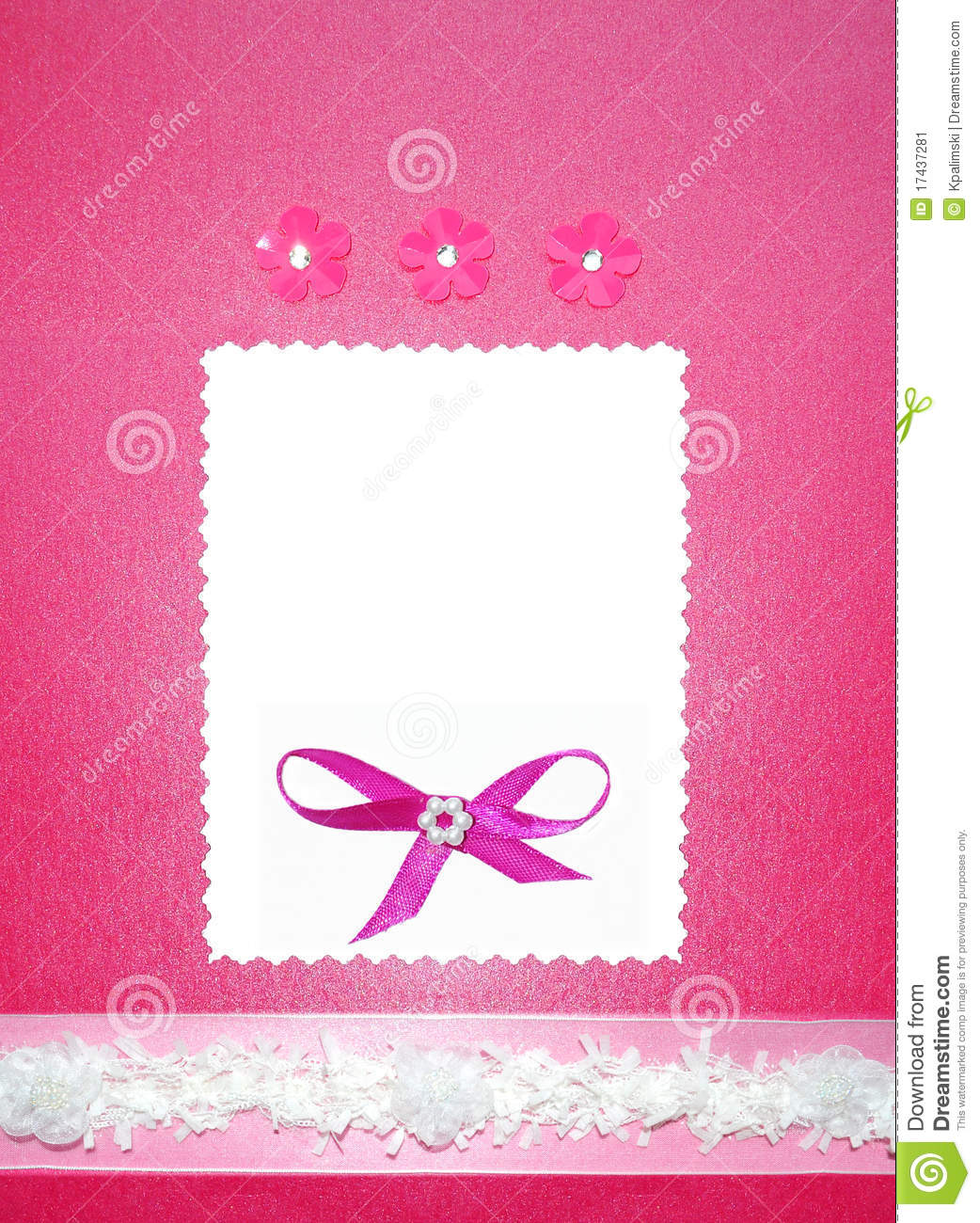 Pink wedding paper card invitation or photo frame stock for Wedding invitation cards photo frame