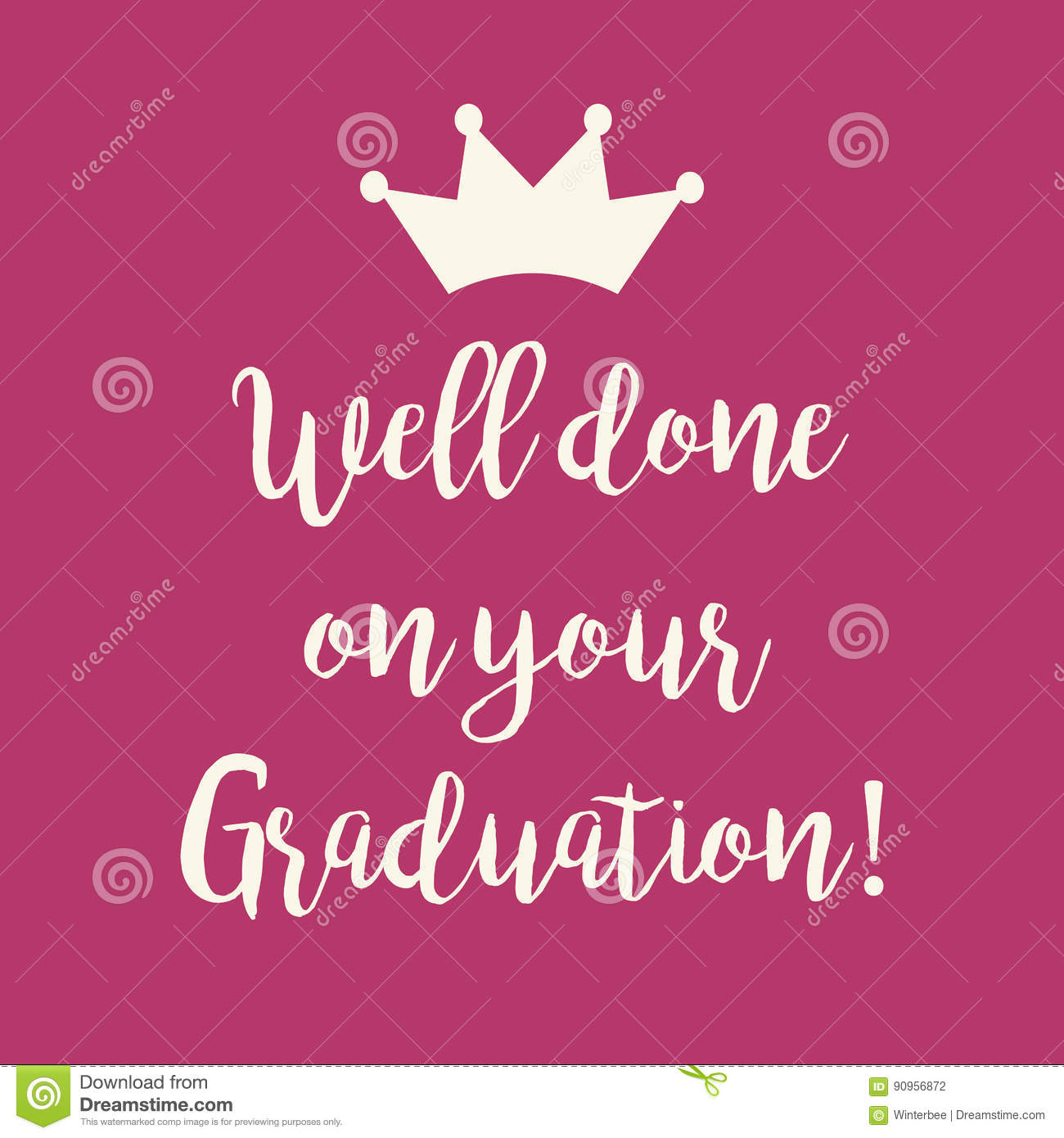 Pink well done on your graduation greeting card stock vector pink well done on your graduation greeting card kristyandbryce Gallery