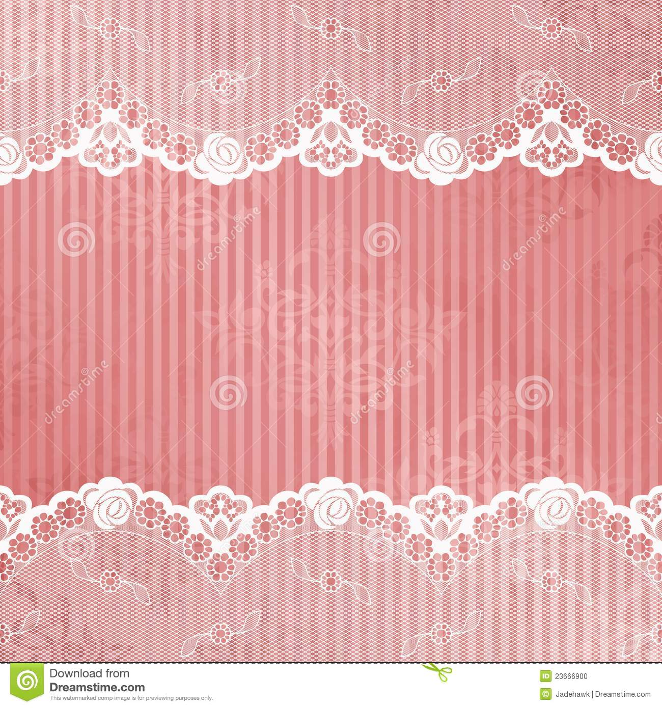 pink and white background with lace stock vector image