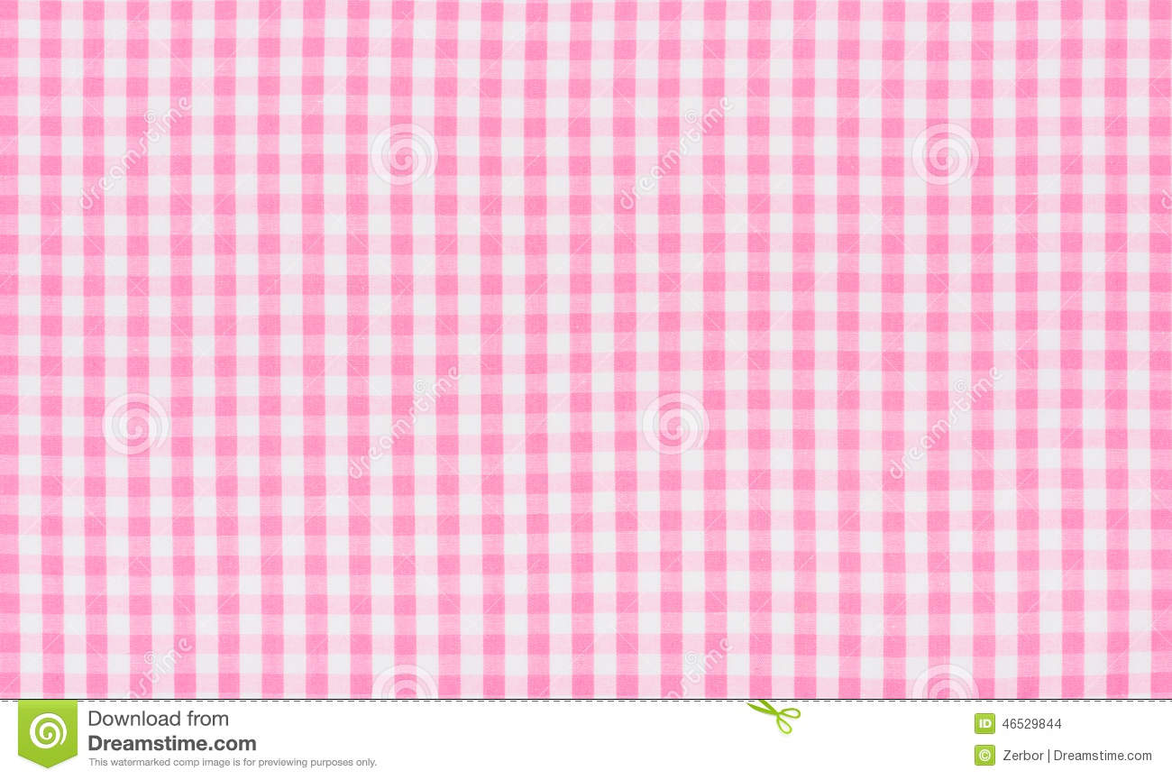 Pink And White Checkered Textile Stock Photo Image 46529844