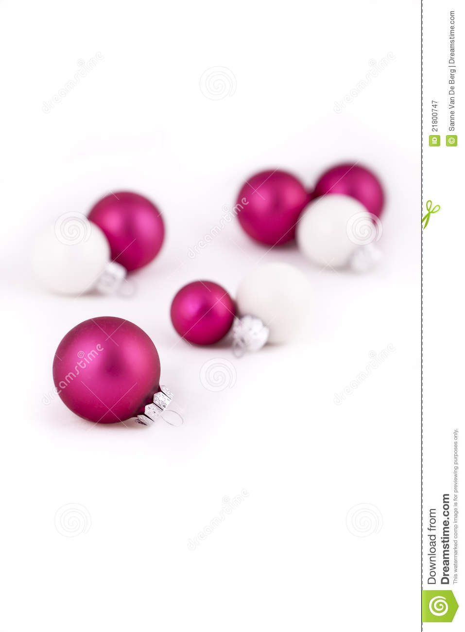 Pink and white christmas decorations royalty free stock - Pink and white decorations ...