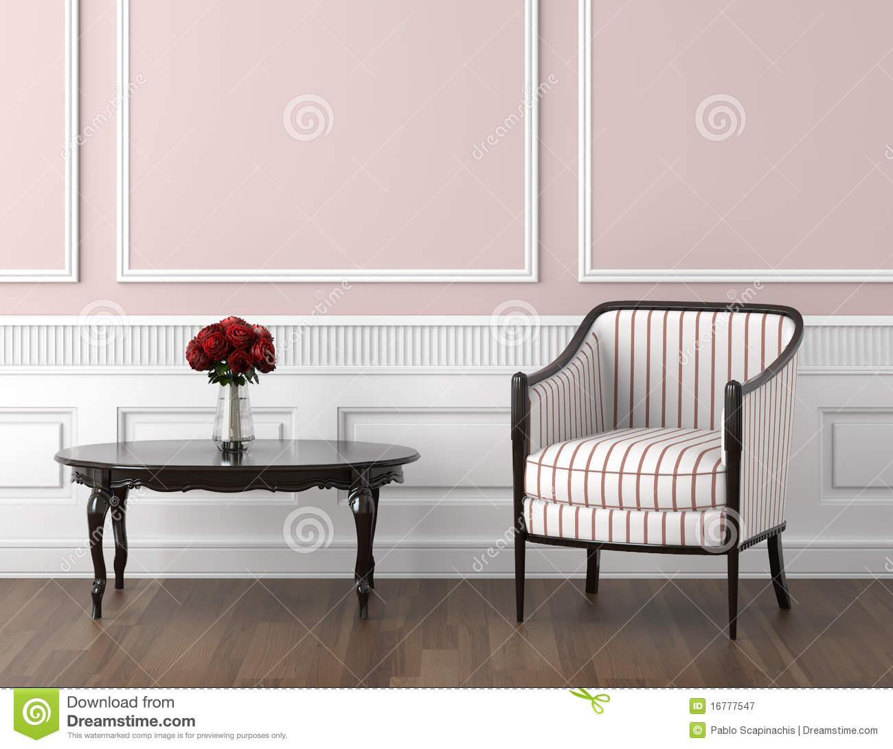 Classic Interior beige and white classic interior royalty free stock photos - image