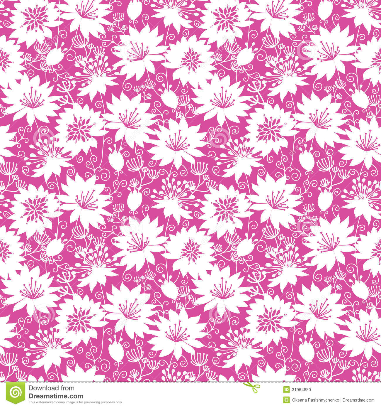 Seamless pink floral pattern - photo#39