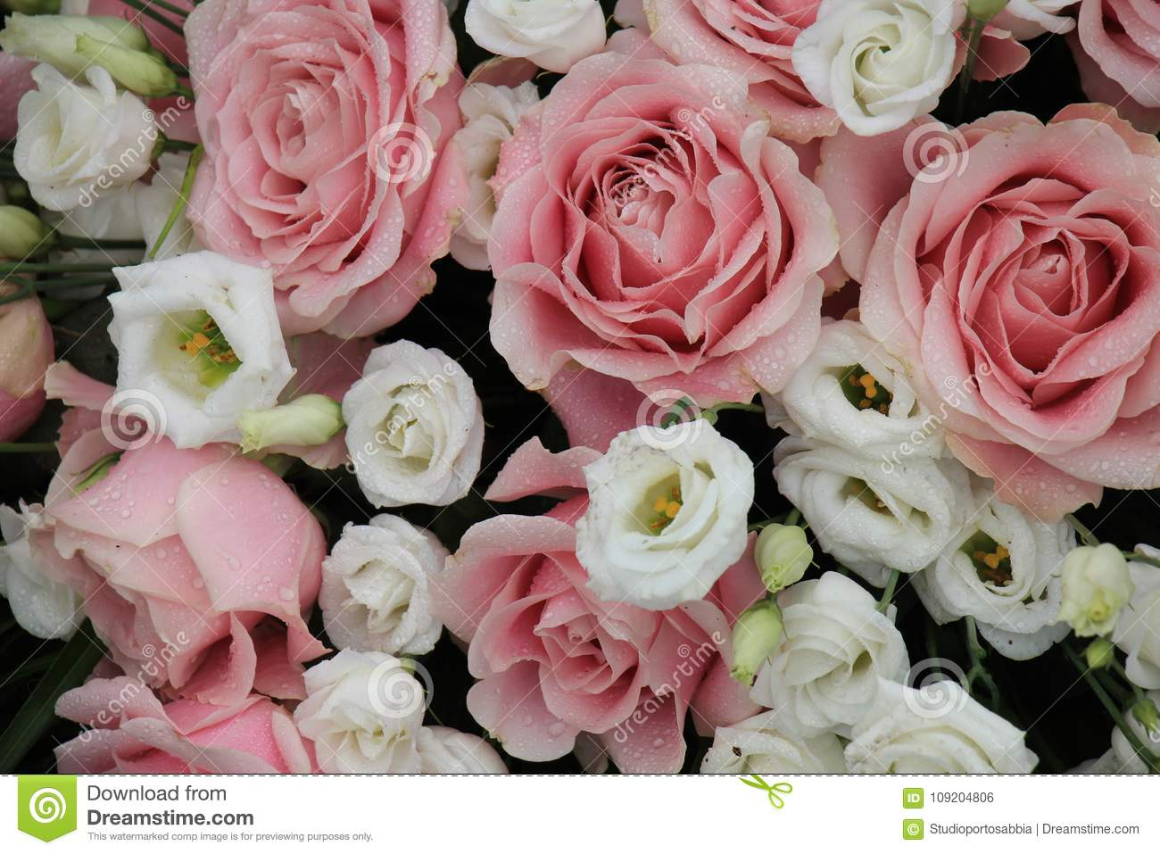 Pink And White Wedding Flowers Stock Photo Image Of Wedding Mixed
