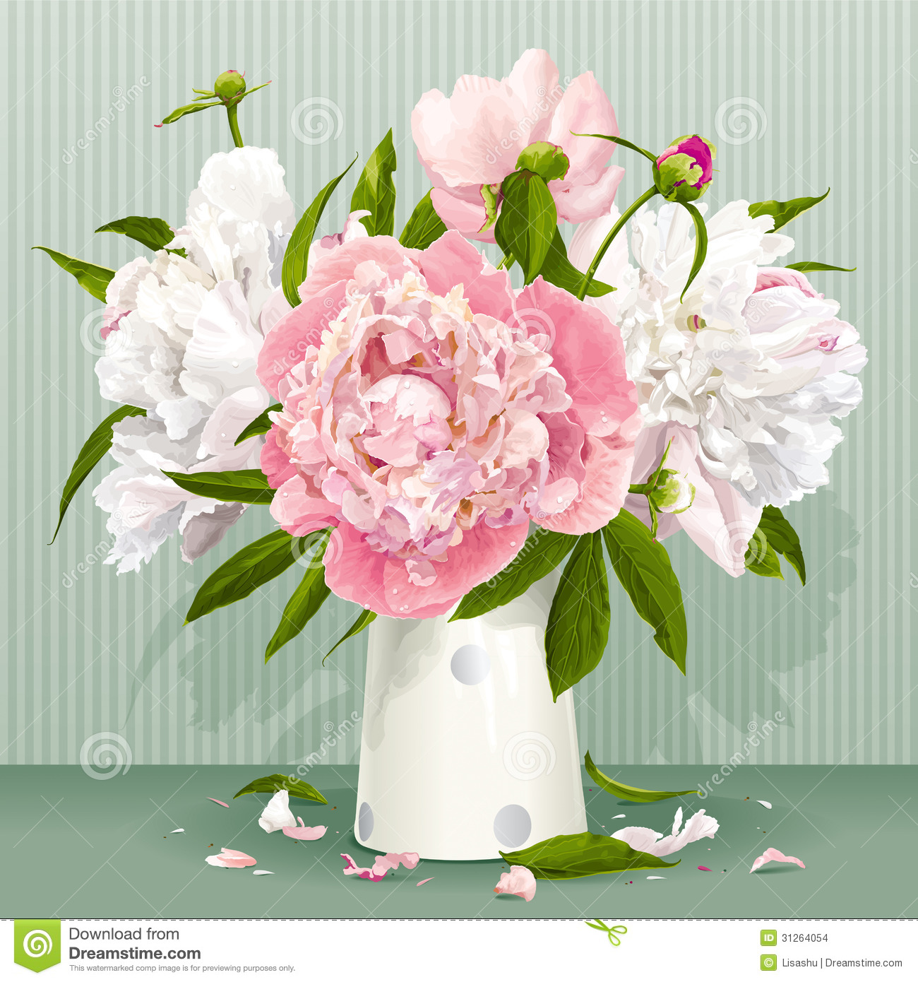 Pink And White Peony Bouquet Stock Images Image 31264054