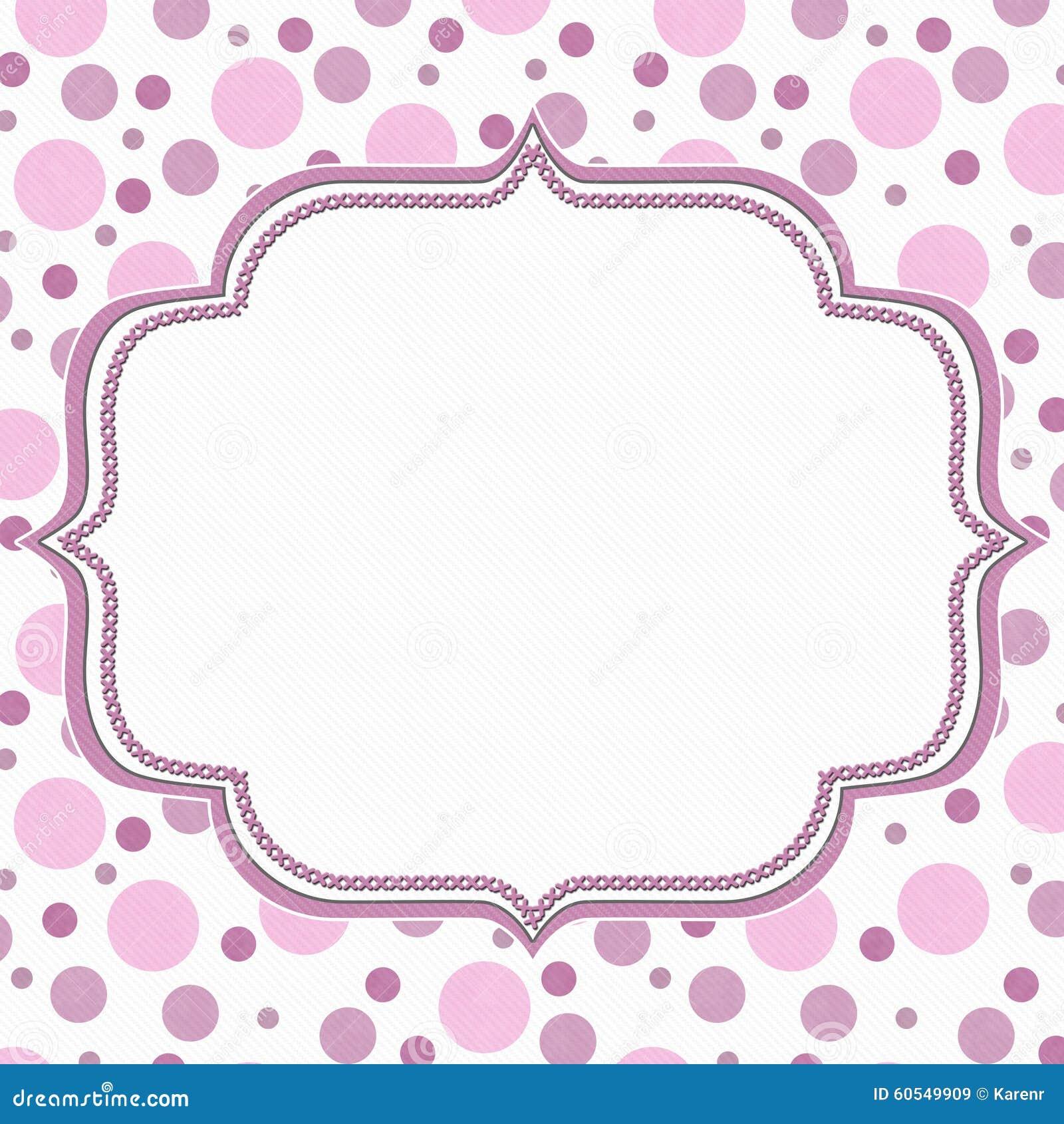 Pink And White Polka Dot Frame Background Stock Illustration ...