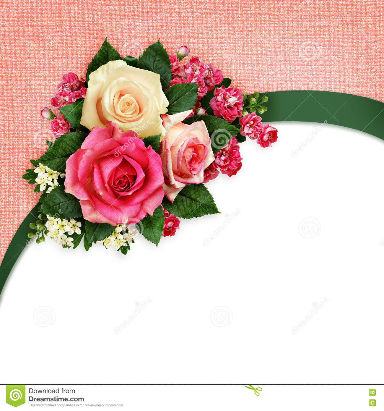 Pink And White Rose Flowers Arrangement Stock Image Image Of