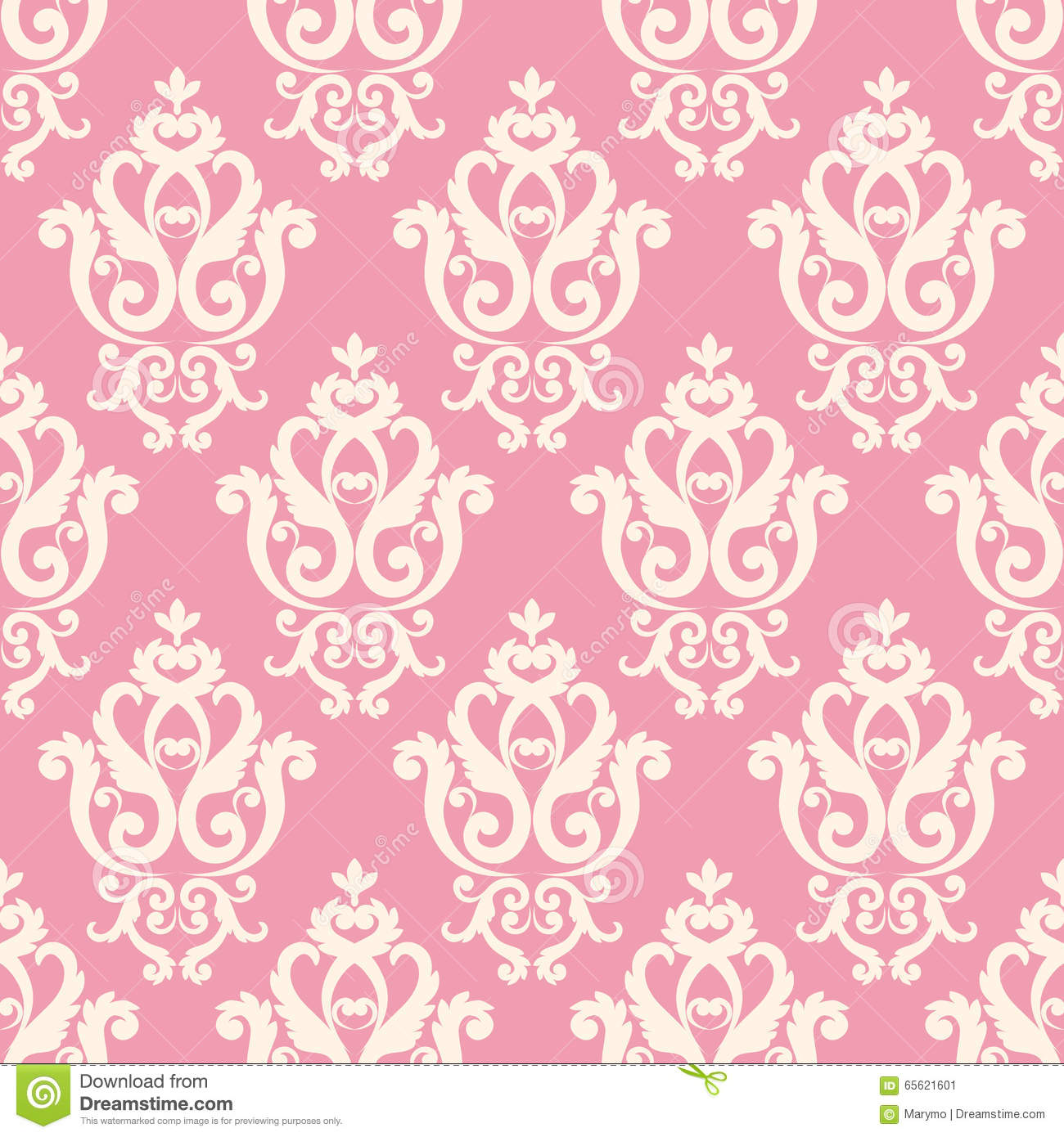 Pink And White Texture In Vintage Royal Style. Stock ...