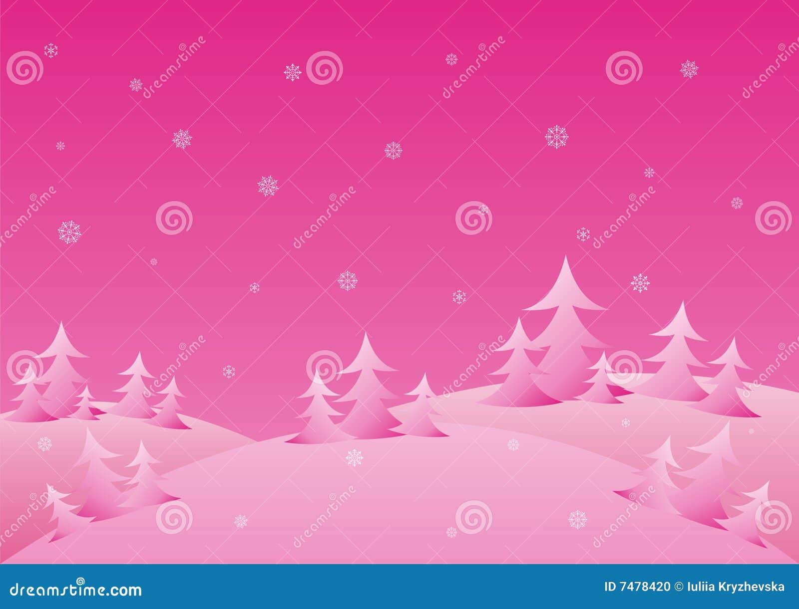 Pink Winter Background Stock Photo - Image: 7478420