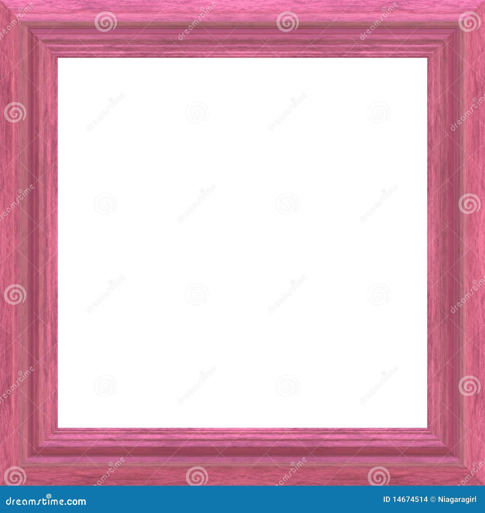 Pink Wood Frame stock illustration. Image of pink ...