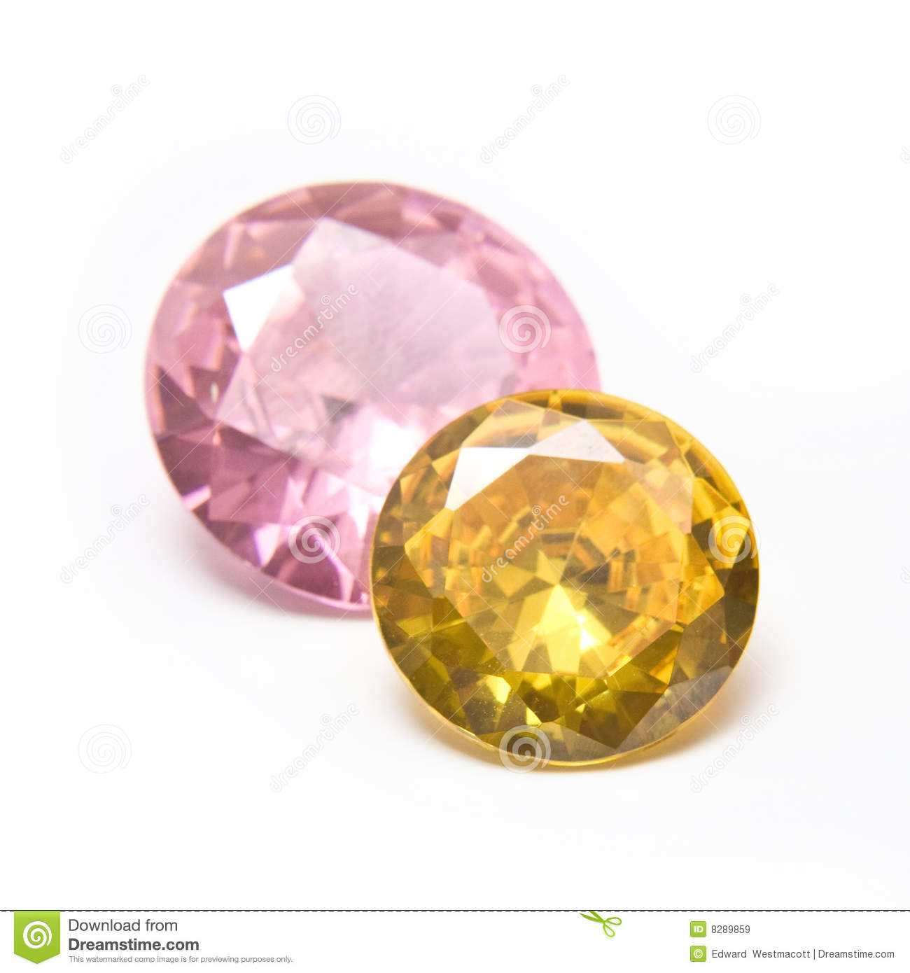 pink and yellow gemstones royalty free stock images