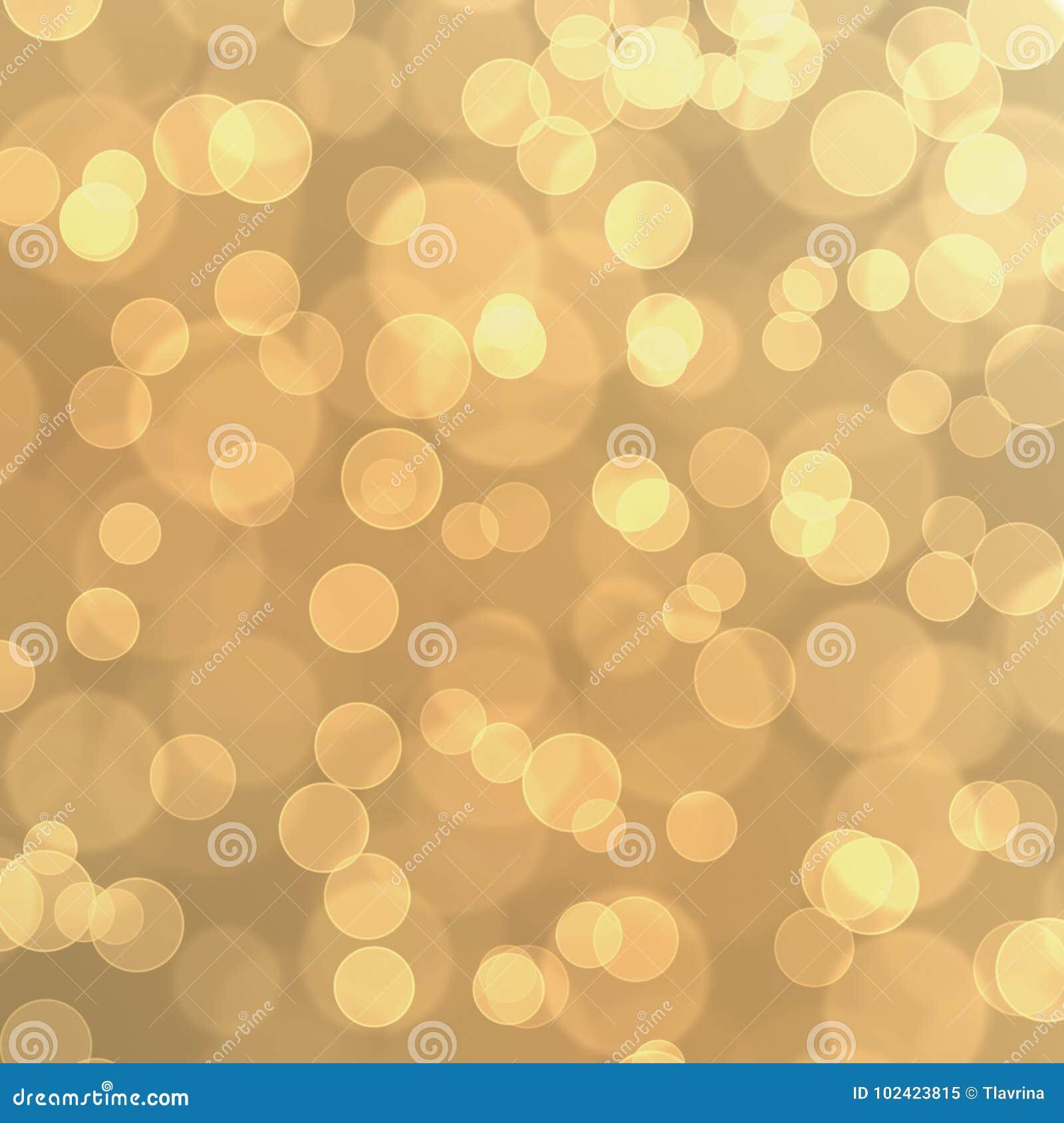 Gold Golden Yellow Circle Bokeh Glitter Balloon Abstract Wallpaper Texture Background