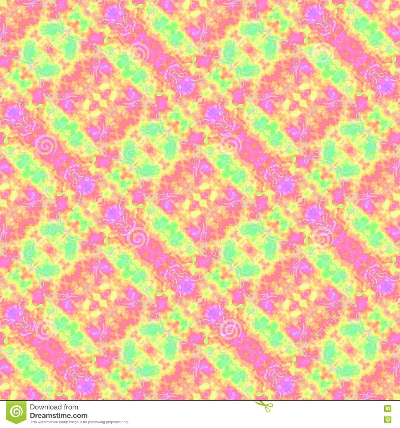Pink yellow green oblique fractal pattern