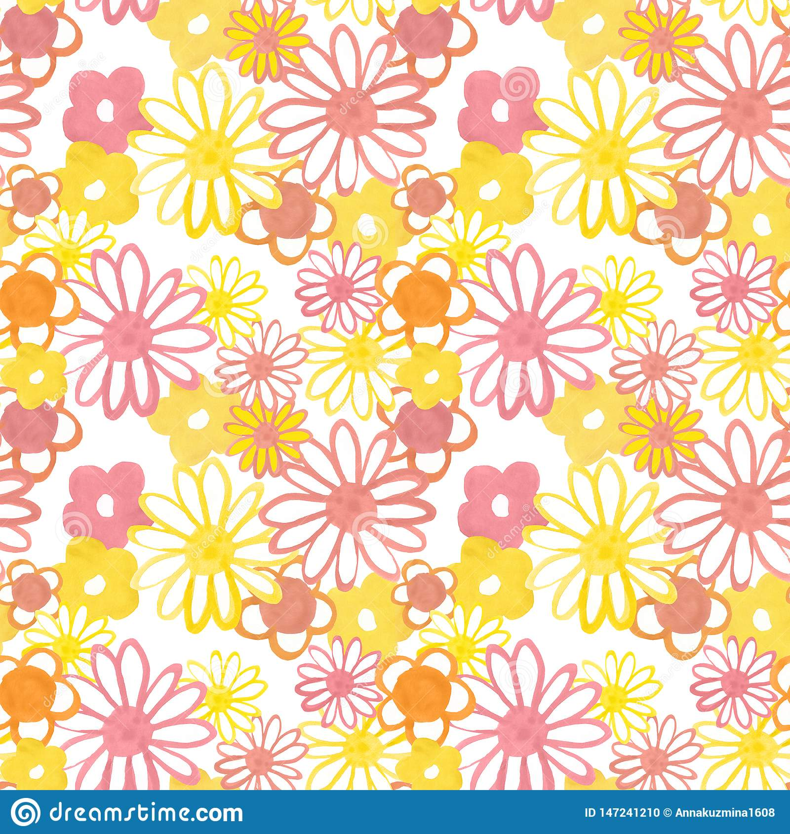 pink yellow orange floral seamless pattern bohemian vintage pattern s s style flower power colorful floral seamles 147241210