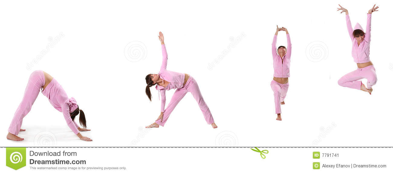 Steps Of Yoga Surya Namaskar Sun Salutation Stock Photo ...