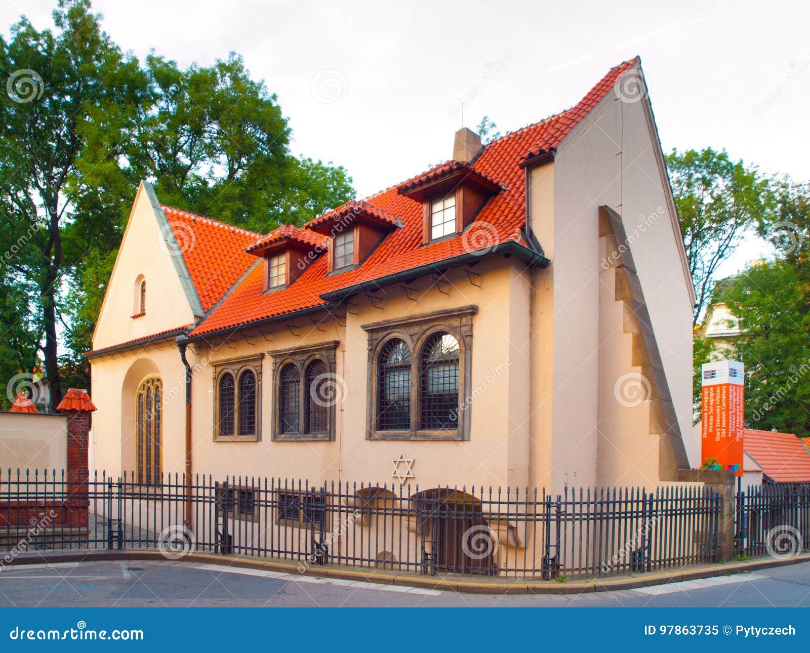 Pinkas犹太教堂在布拉格,捷克犹太镇