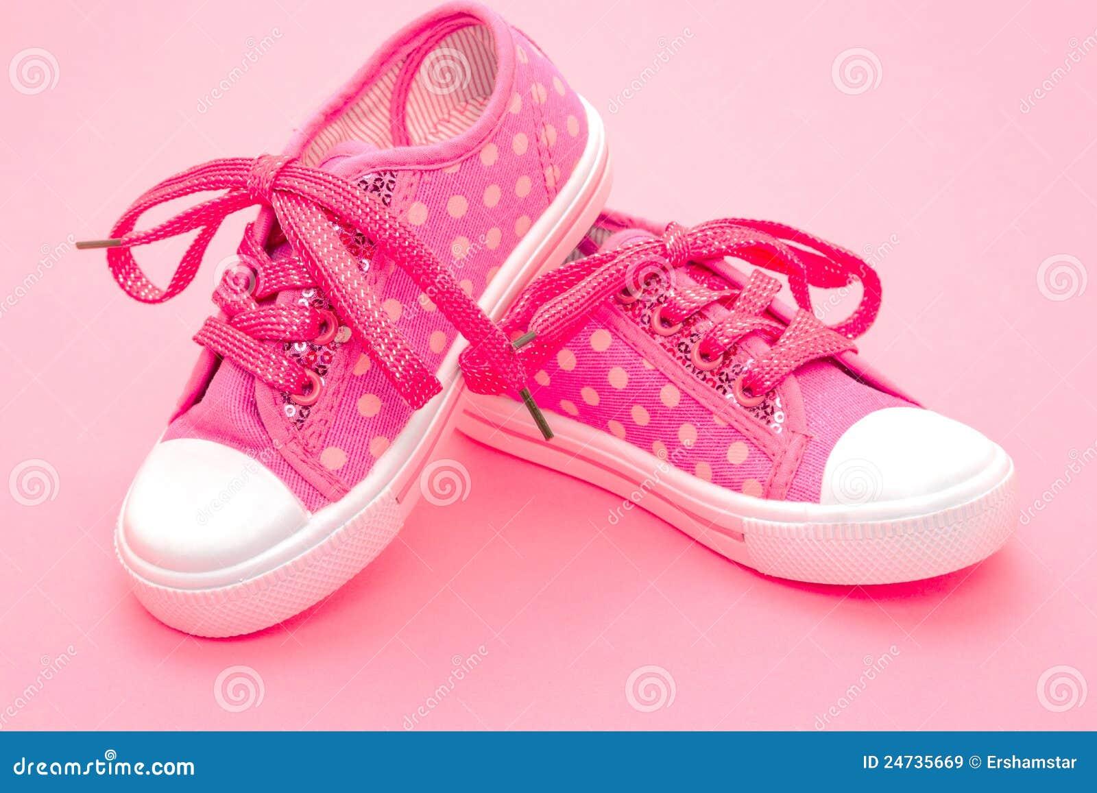 Pinken shoes litet barn