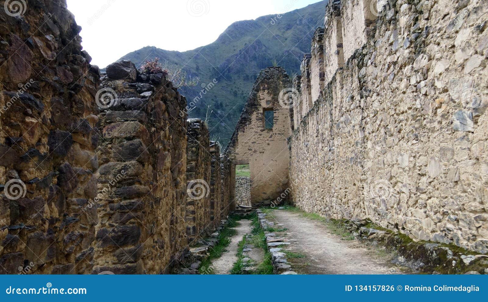 Pinkuylluna考古学废墟在秘鲁