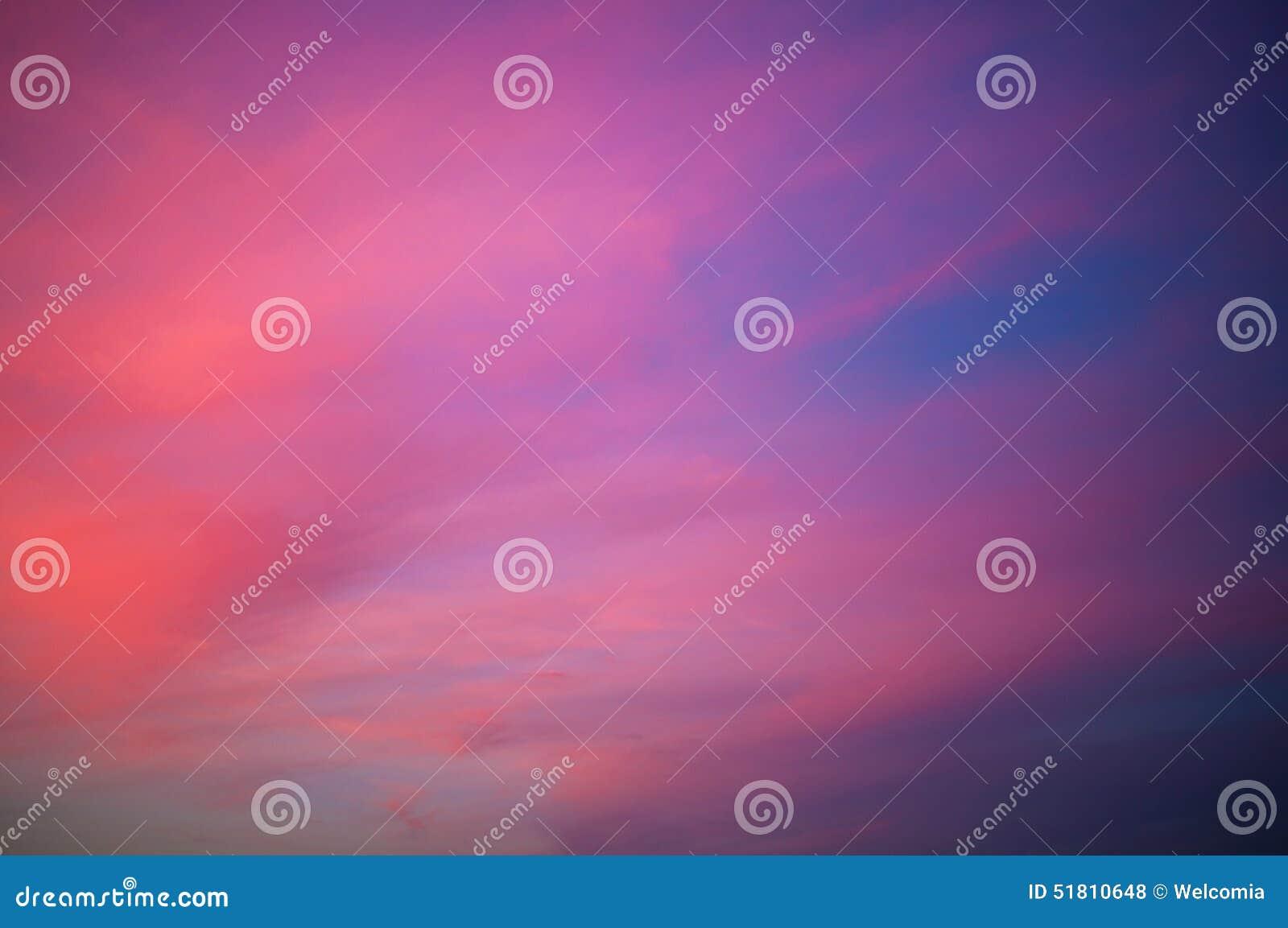 Pinky Sunset Sky Background