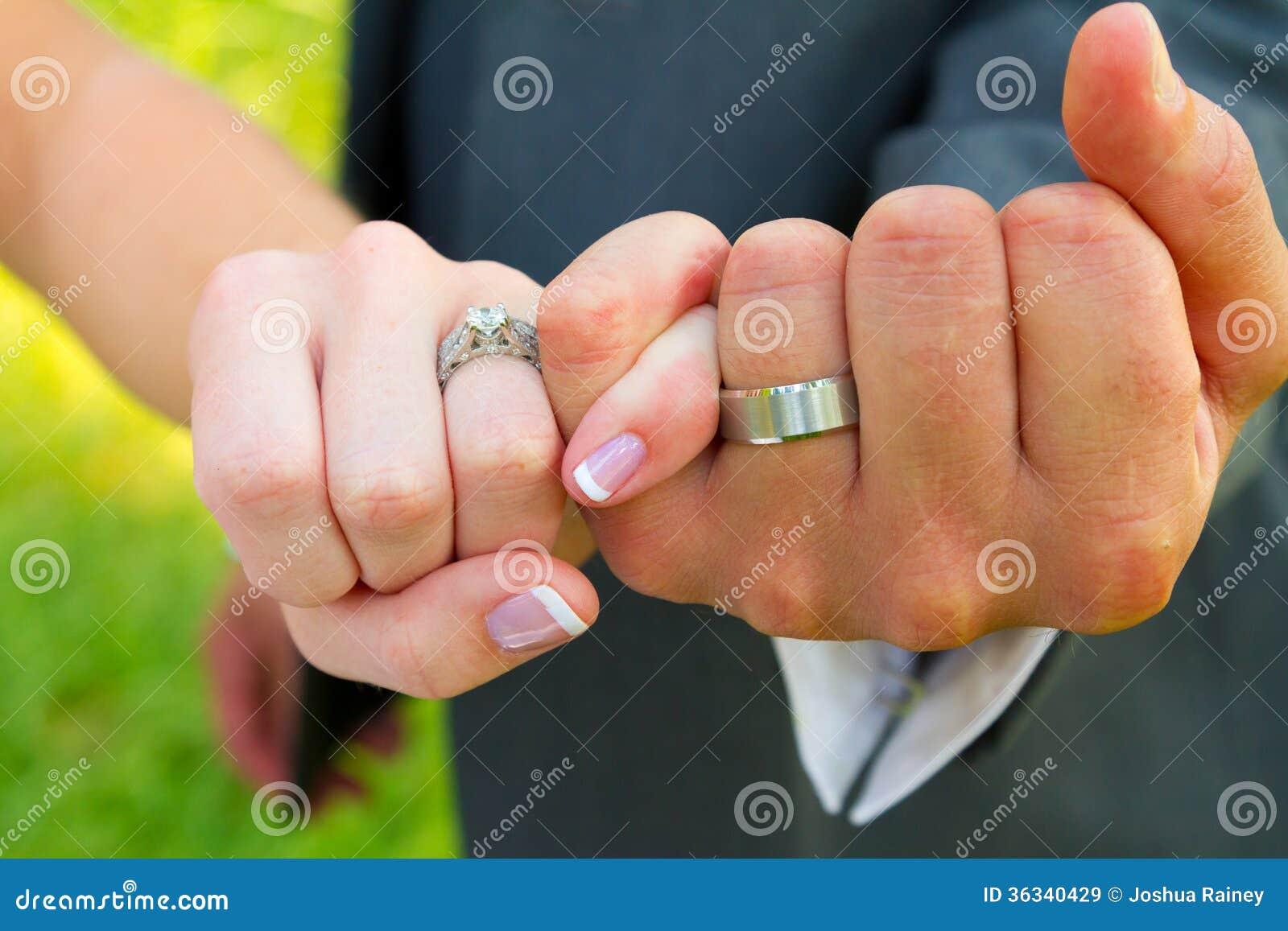 Pinky Swear Wedding Rings Stock Image Image Of Female