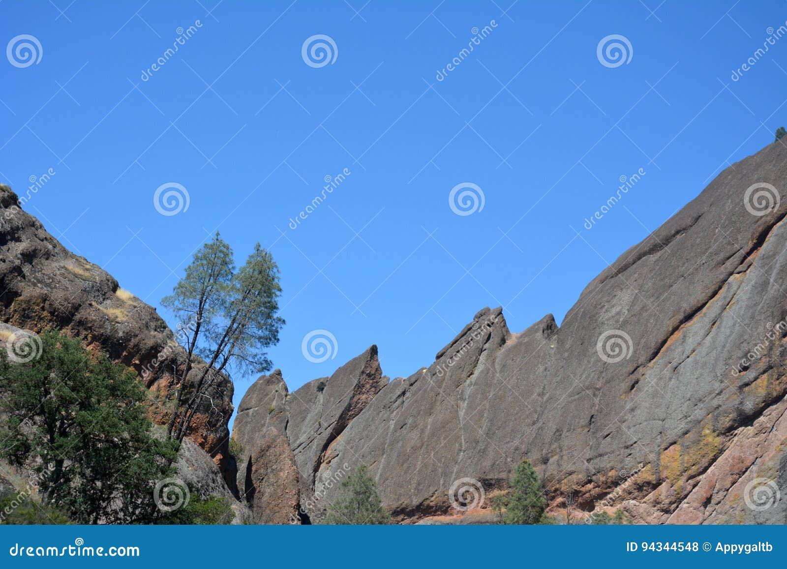 Pinnacles national park machete Ridge with trees