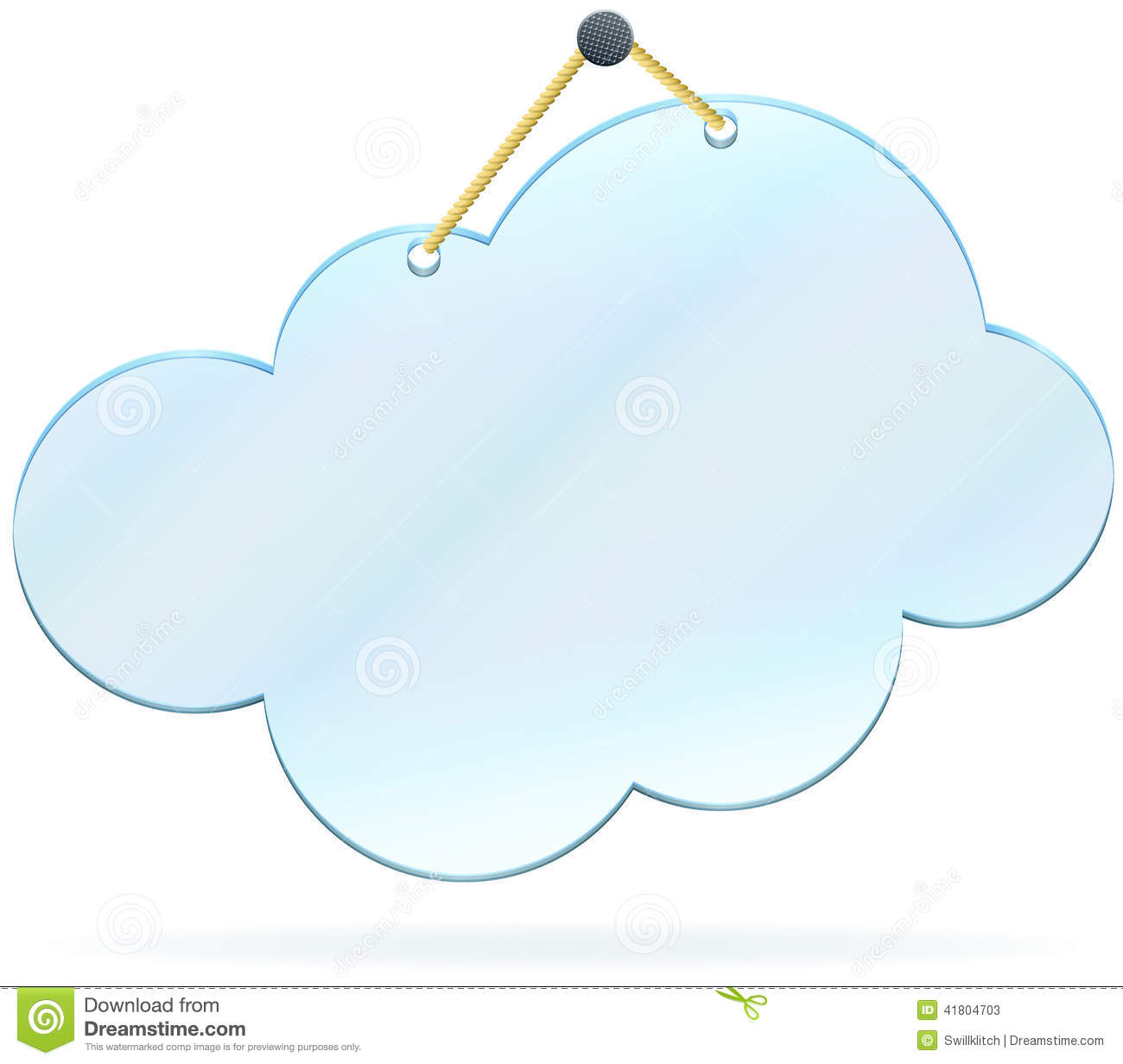Pinned glass cloud frame stock vector. Illustration of concept ...