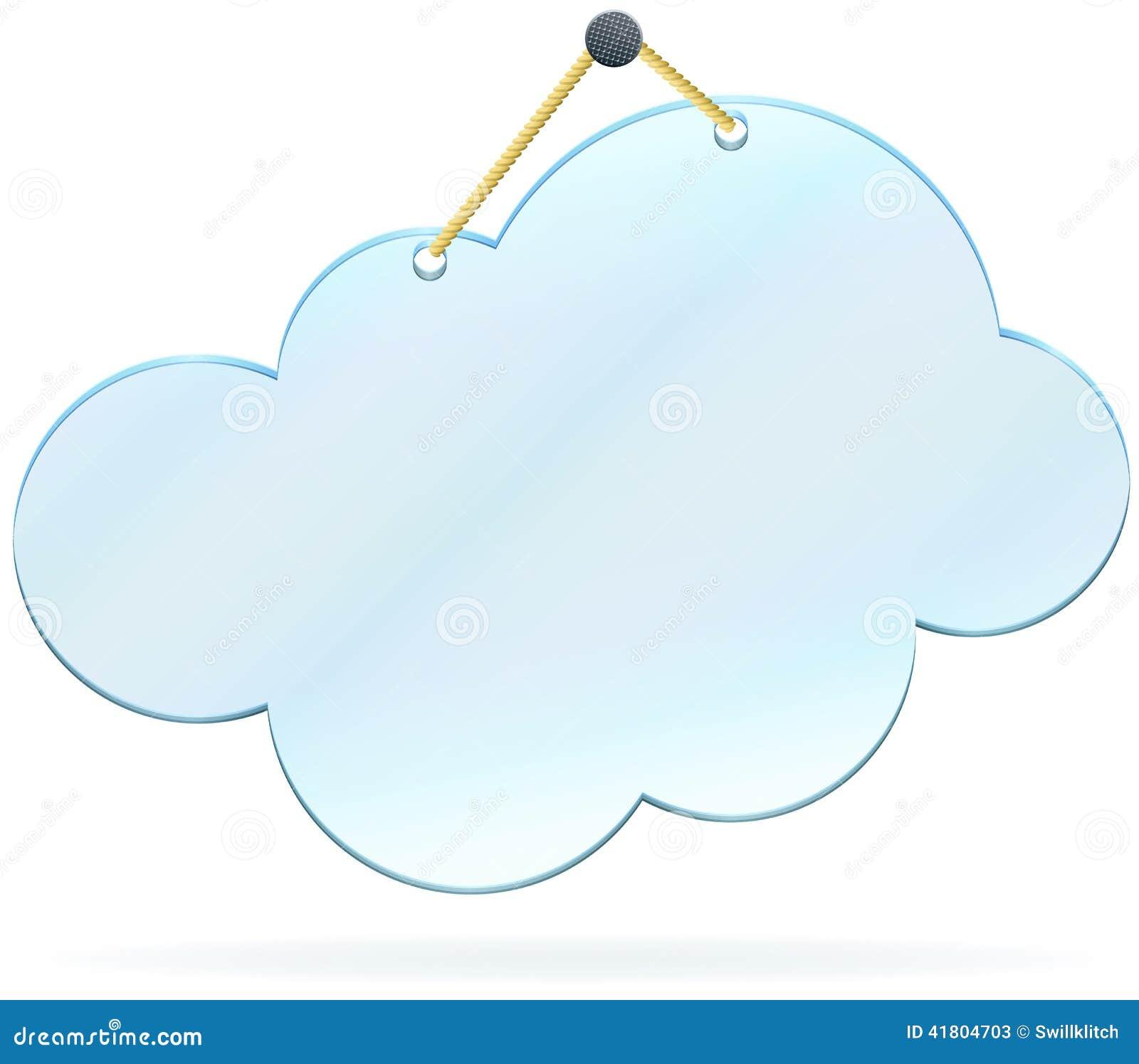 pinned glass cloud frame