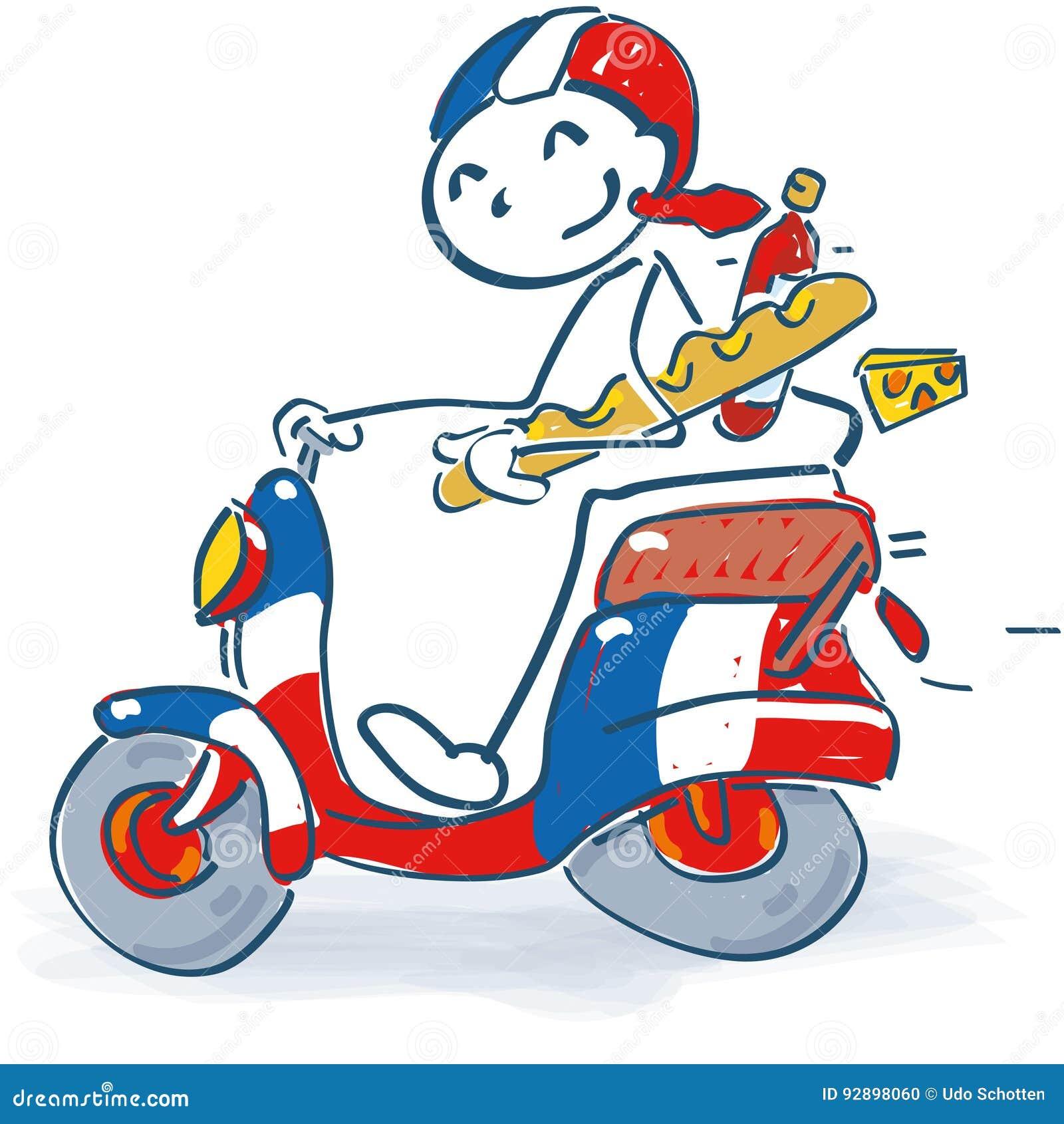 Pinnediagram med en sparkcykel i Frankrike