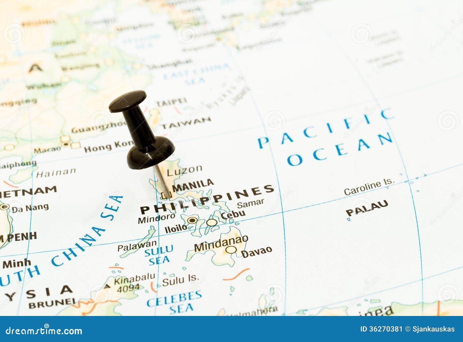 Pino do mapa de Filipinas, manila