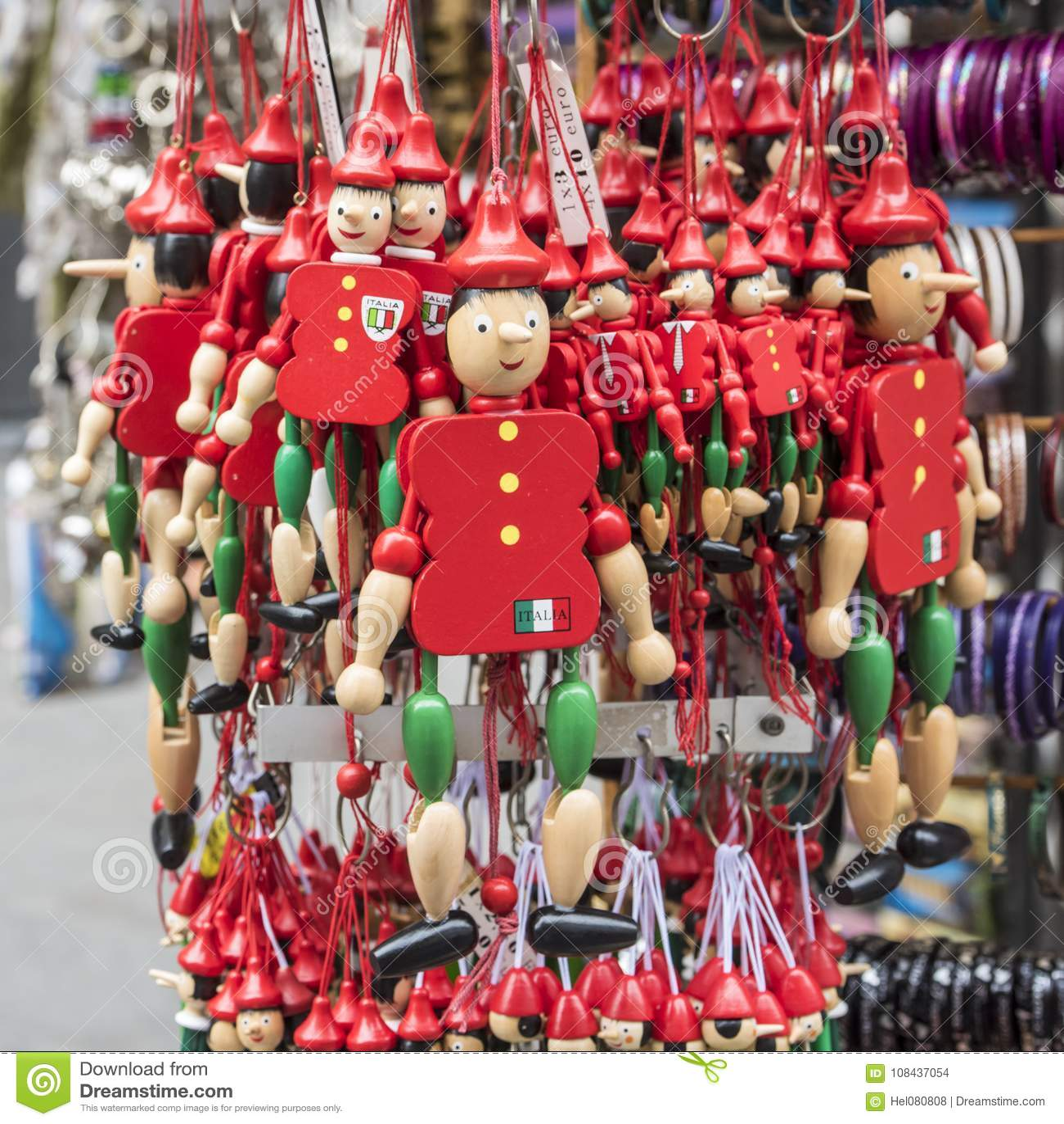 Pinocchio - typische herinnering in Italië