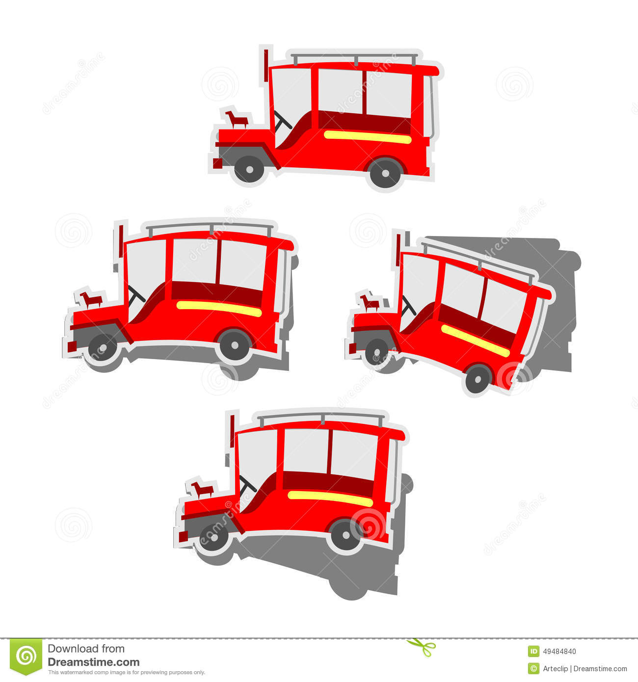 Pinoy Jeepney Stock Vector Image 49484840