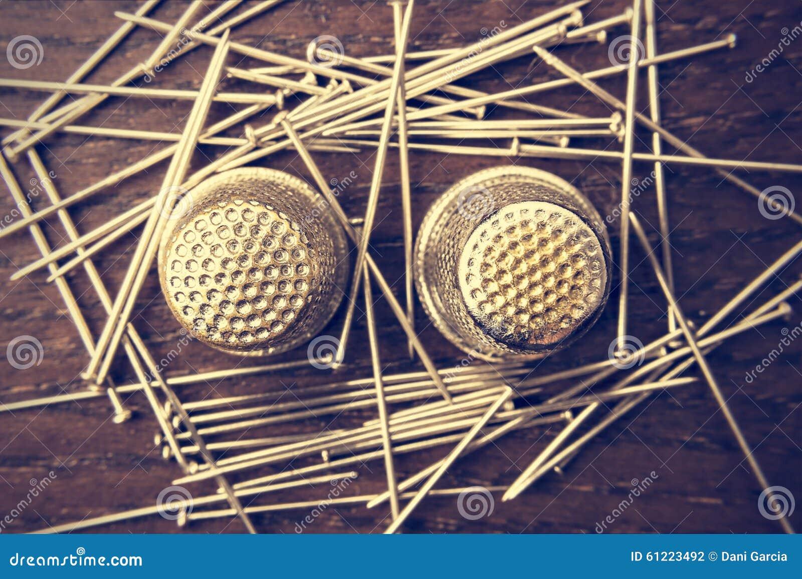 Pins and thimbles