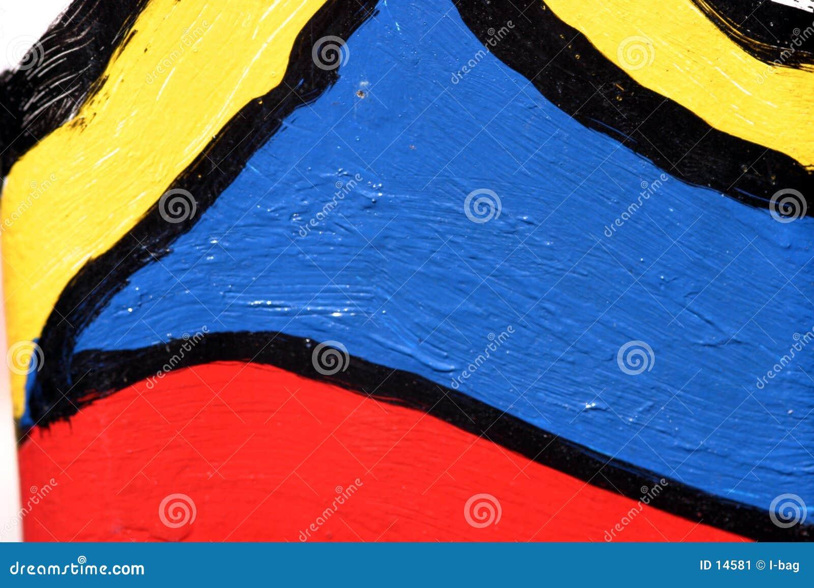 Pintada colorida